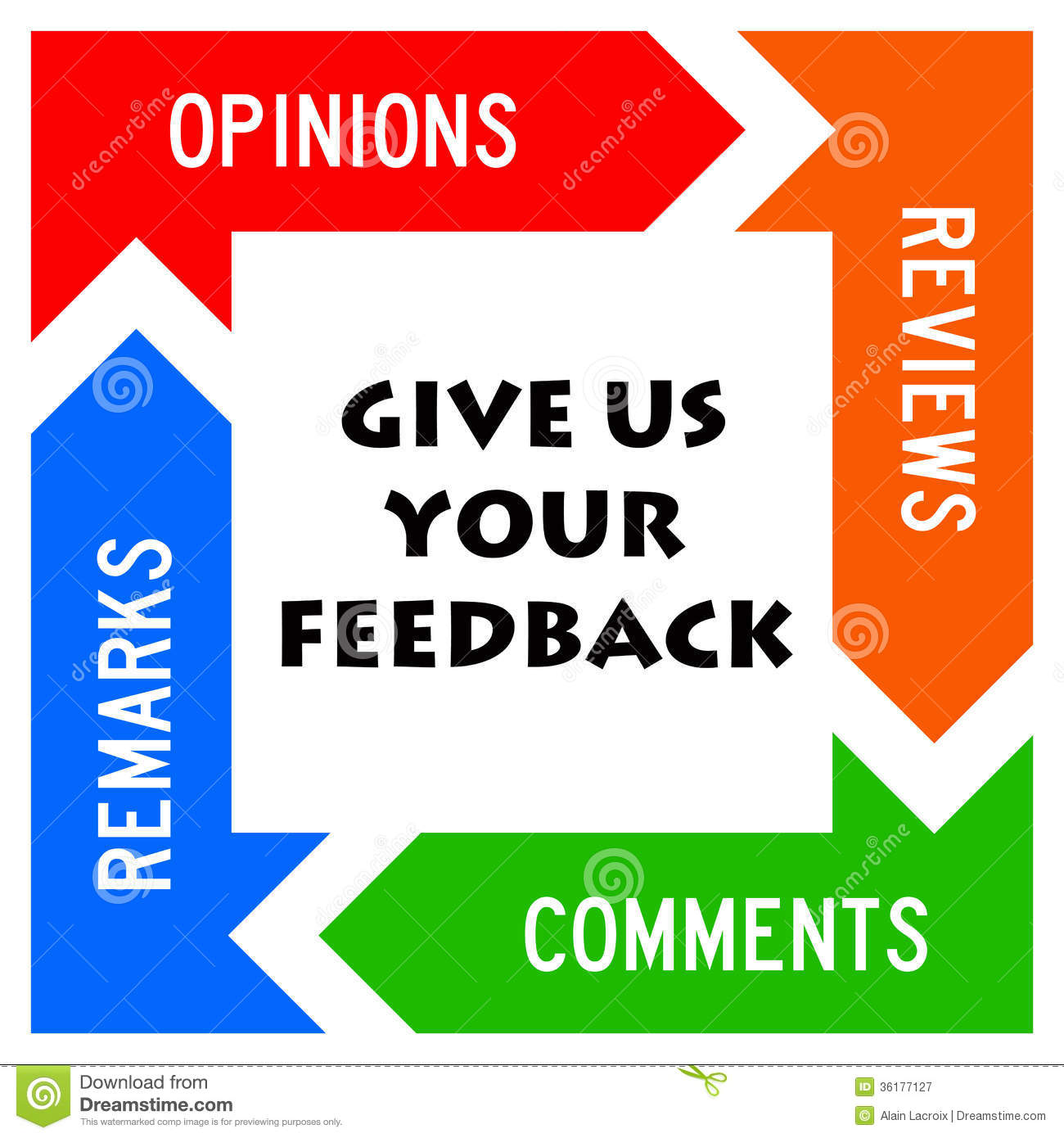 Comments: Giving Feedback Stock Illustration. Illustration Of