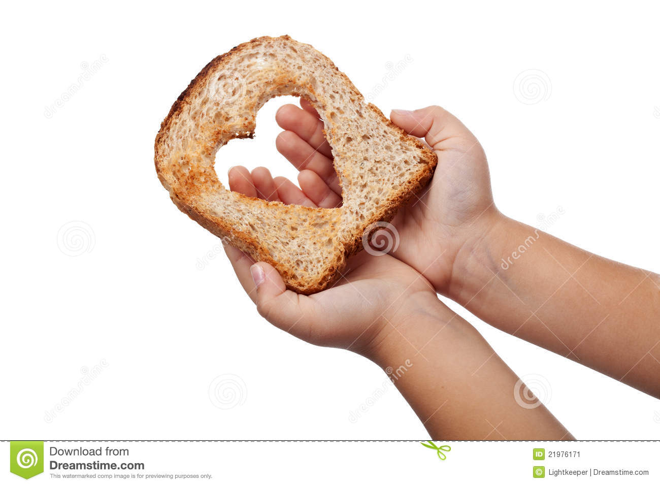 Giving Food With Love Stock Image Image 21976171