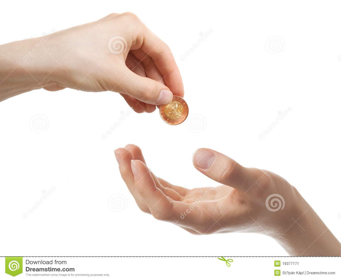 Giving Money Stock Image Image 19377171