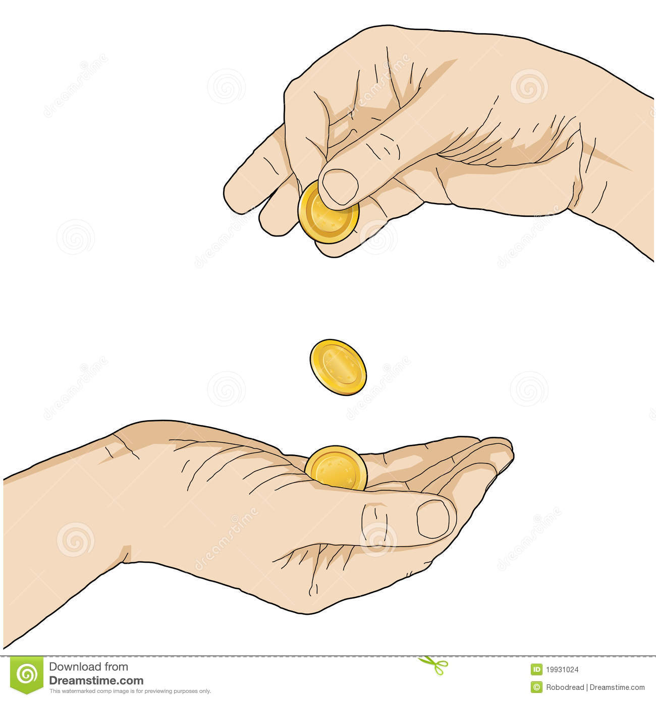 Clipart Giving Money