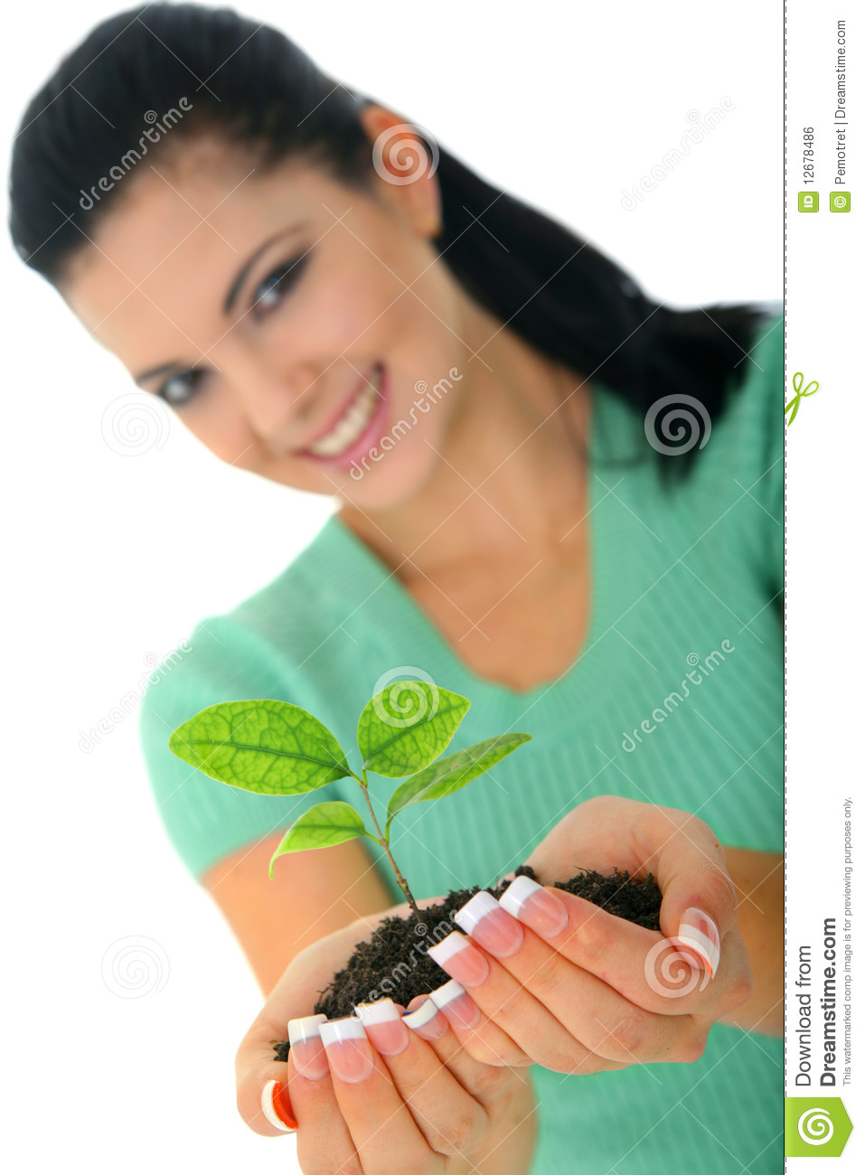 Giving new life stock photo image of female isolated for Generous living