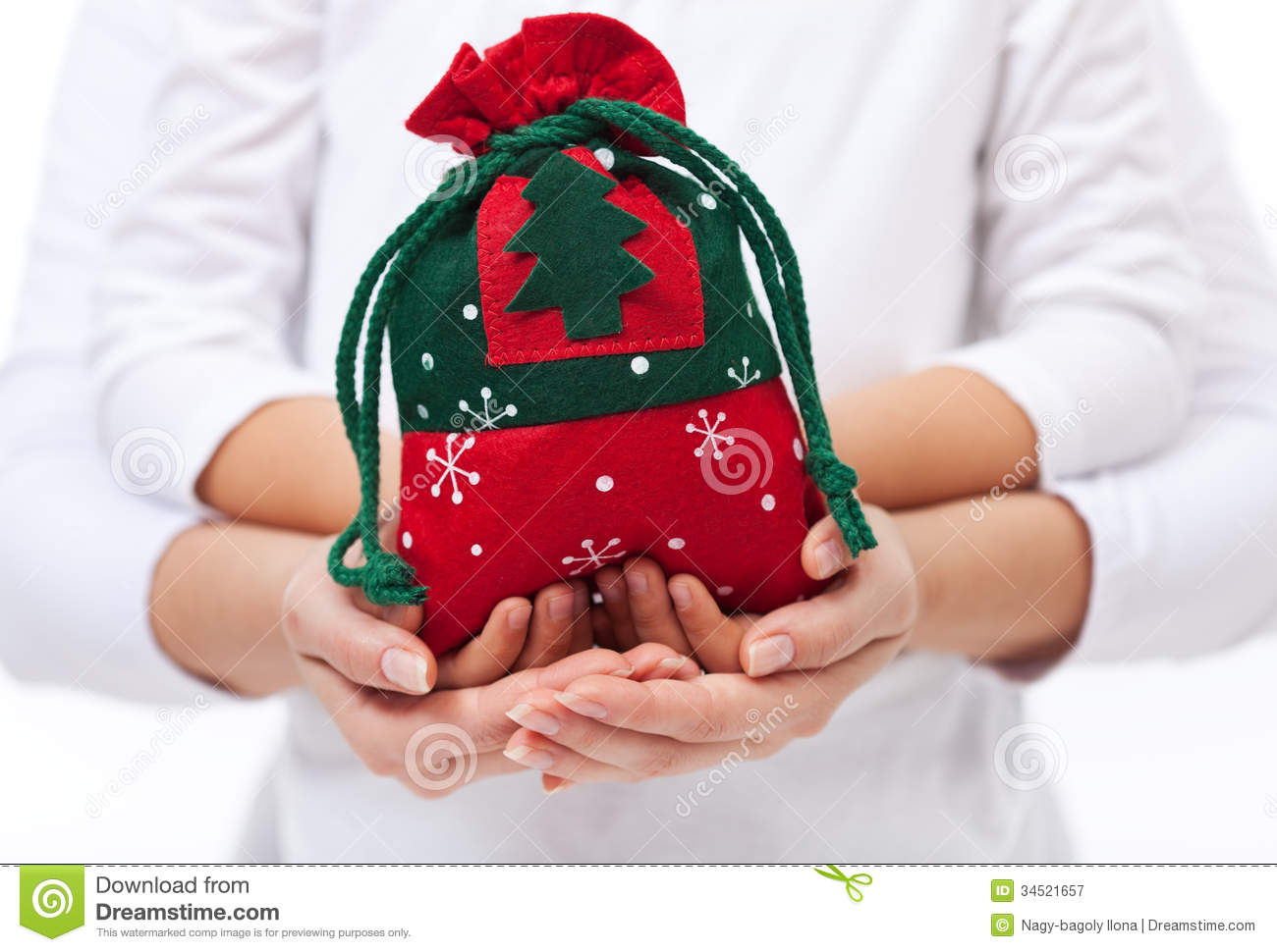 Giving Presents To The Loved Ones At Christmas Concept ...