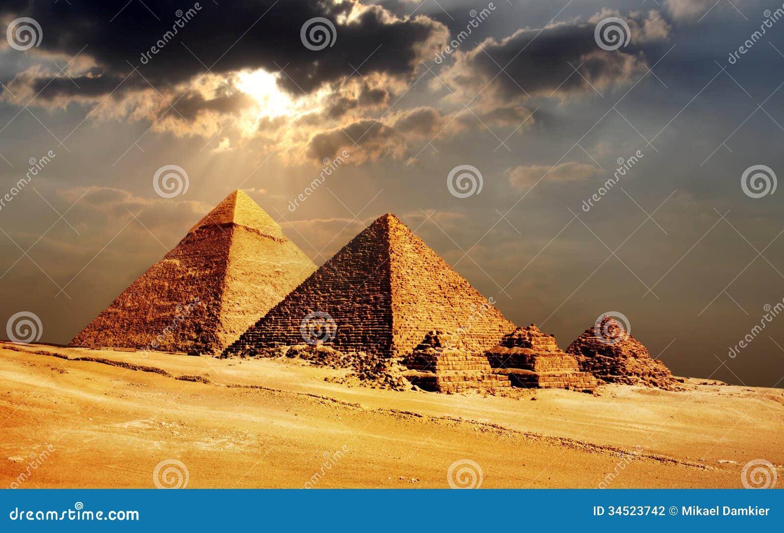 Download Giza Pyramids, Cairo, Egypt Stock Photo - Image of history, exterior: 34523742