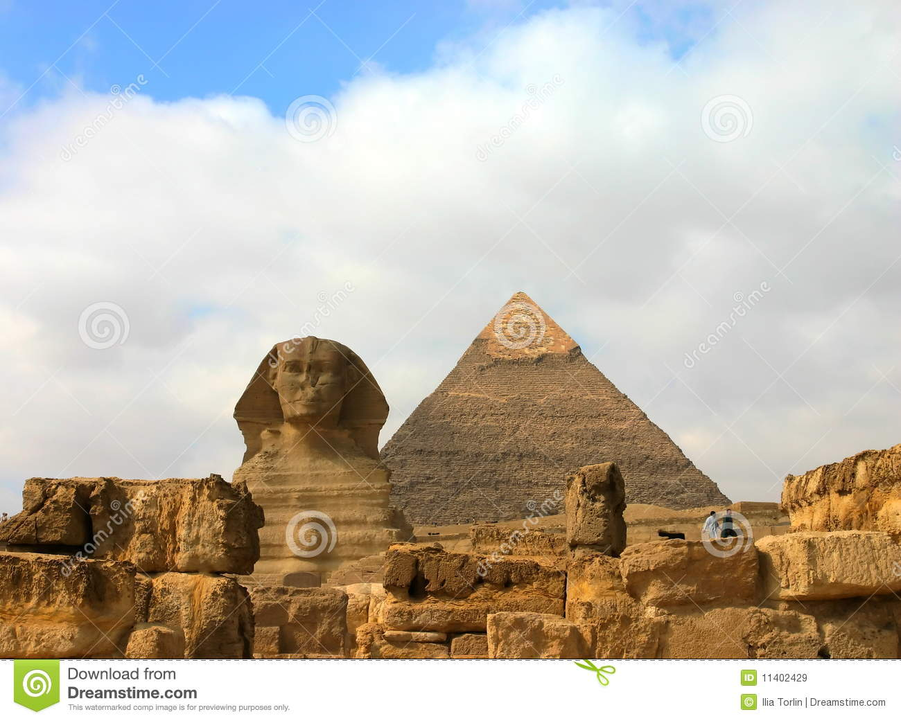 Giza Pyramids And Sphinx Egypt Royalty Free Stock Images