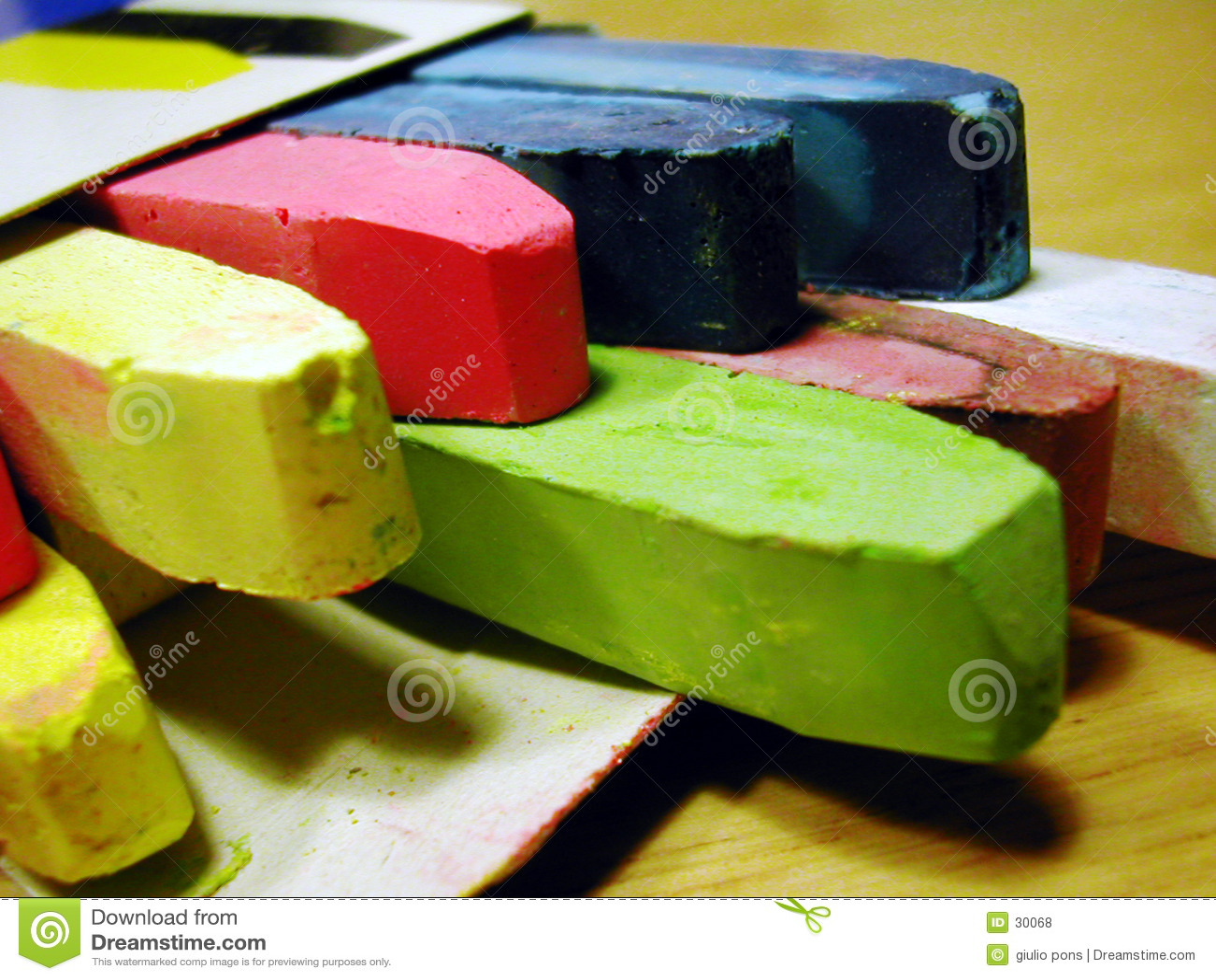 Gizes coloridos