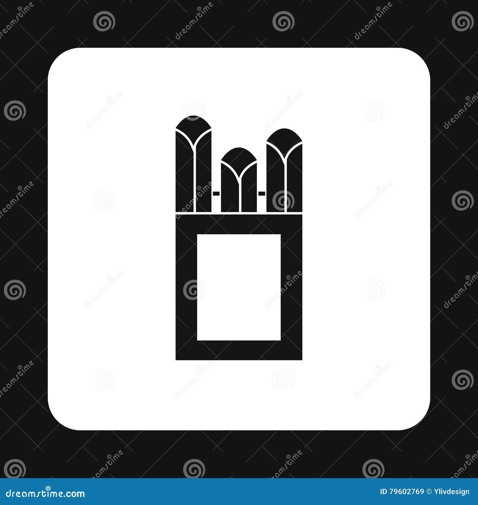 Gizes no ícone da caixa da caixa, estilo simples