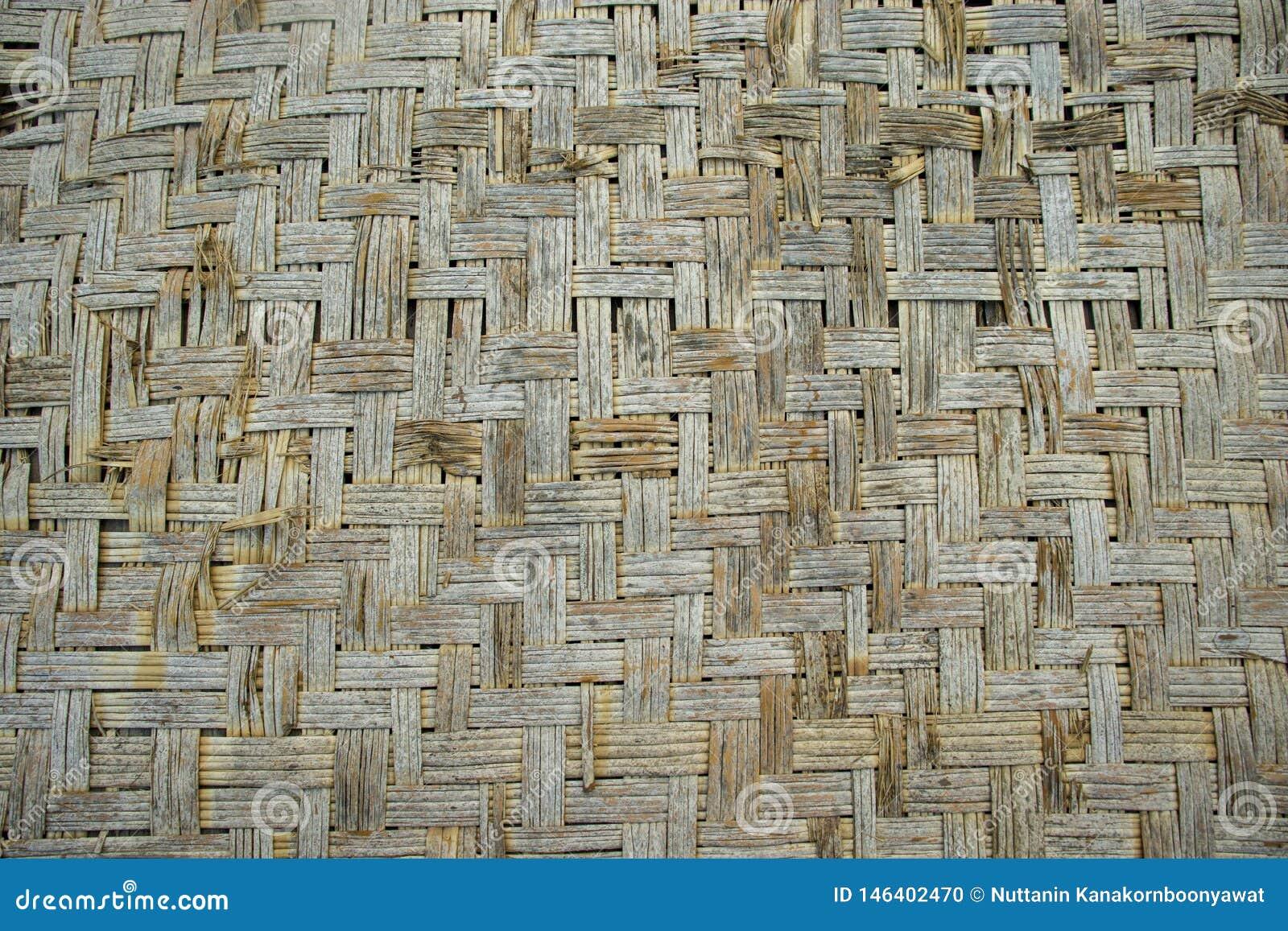 Gjord matt hand för gammal bambukorgarbete -