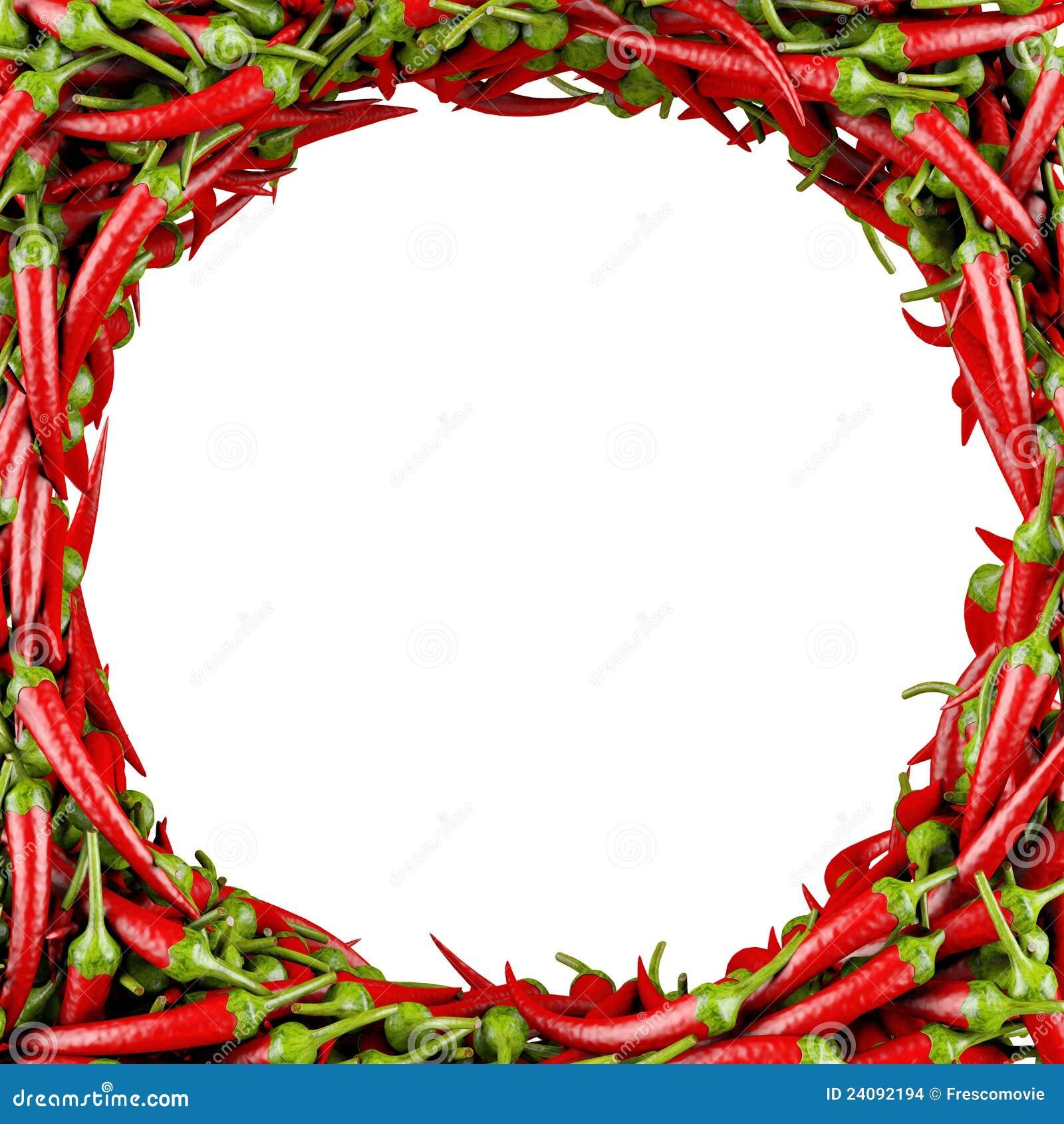 Gjord peppar för chili ram