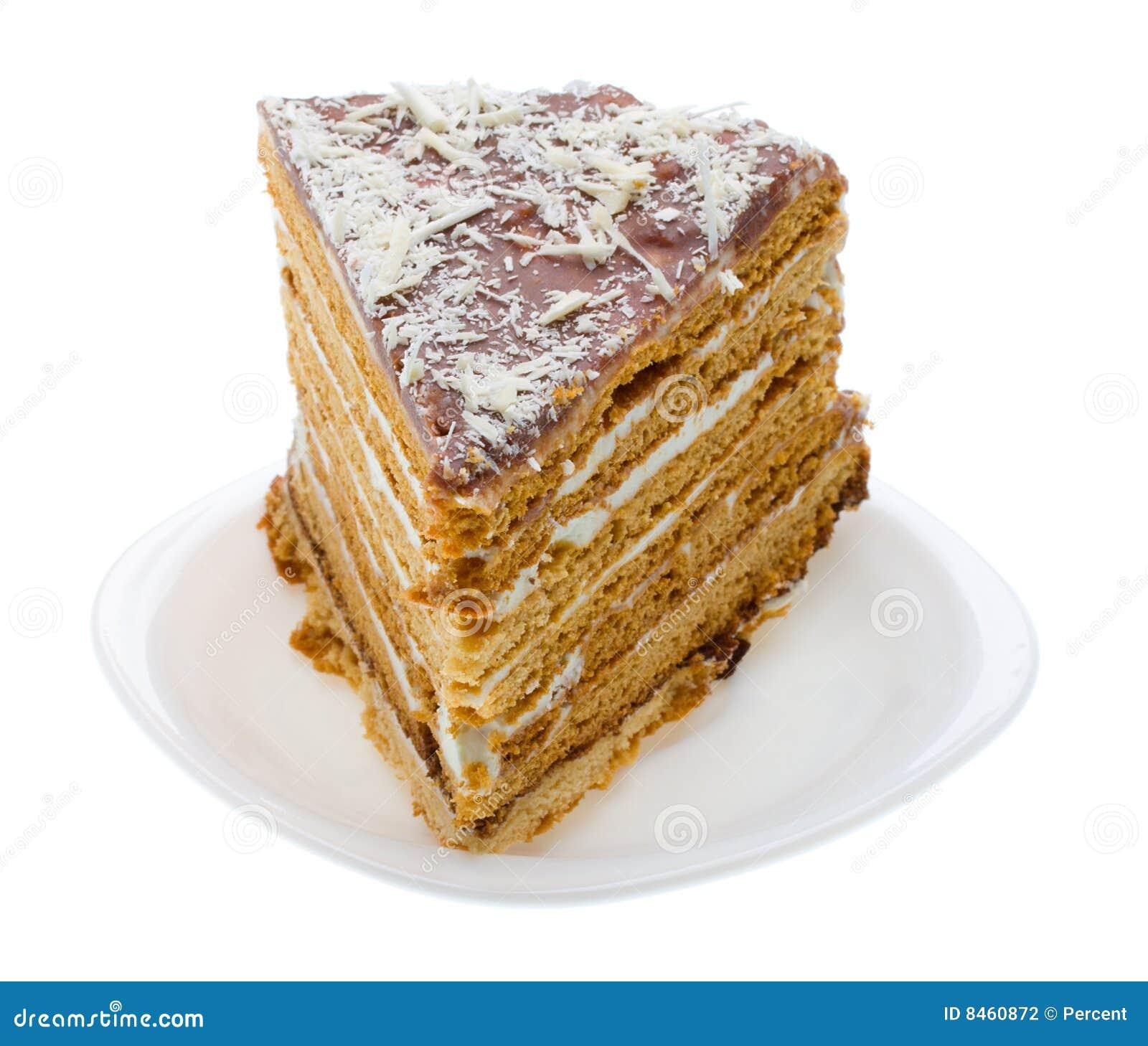 Gjorde home honung för caken styckplattan