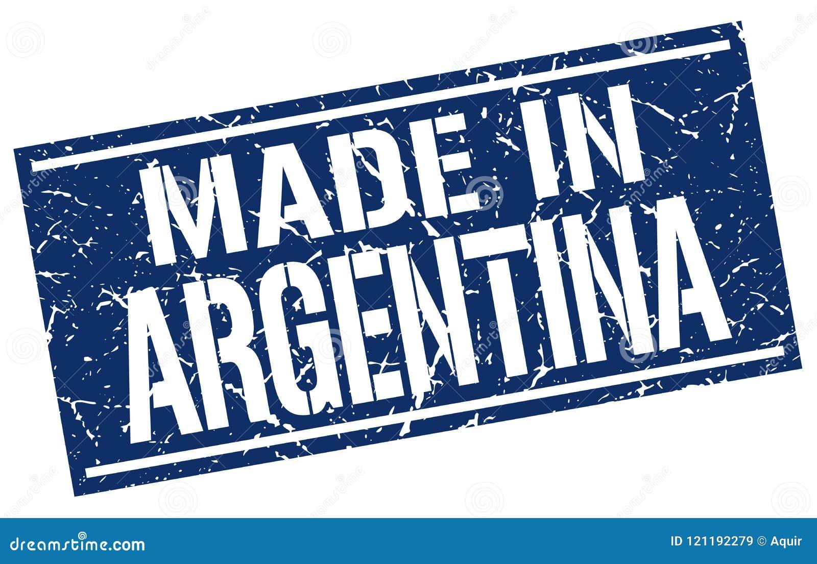Gjort i den Argentina stämpeln