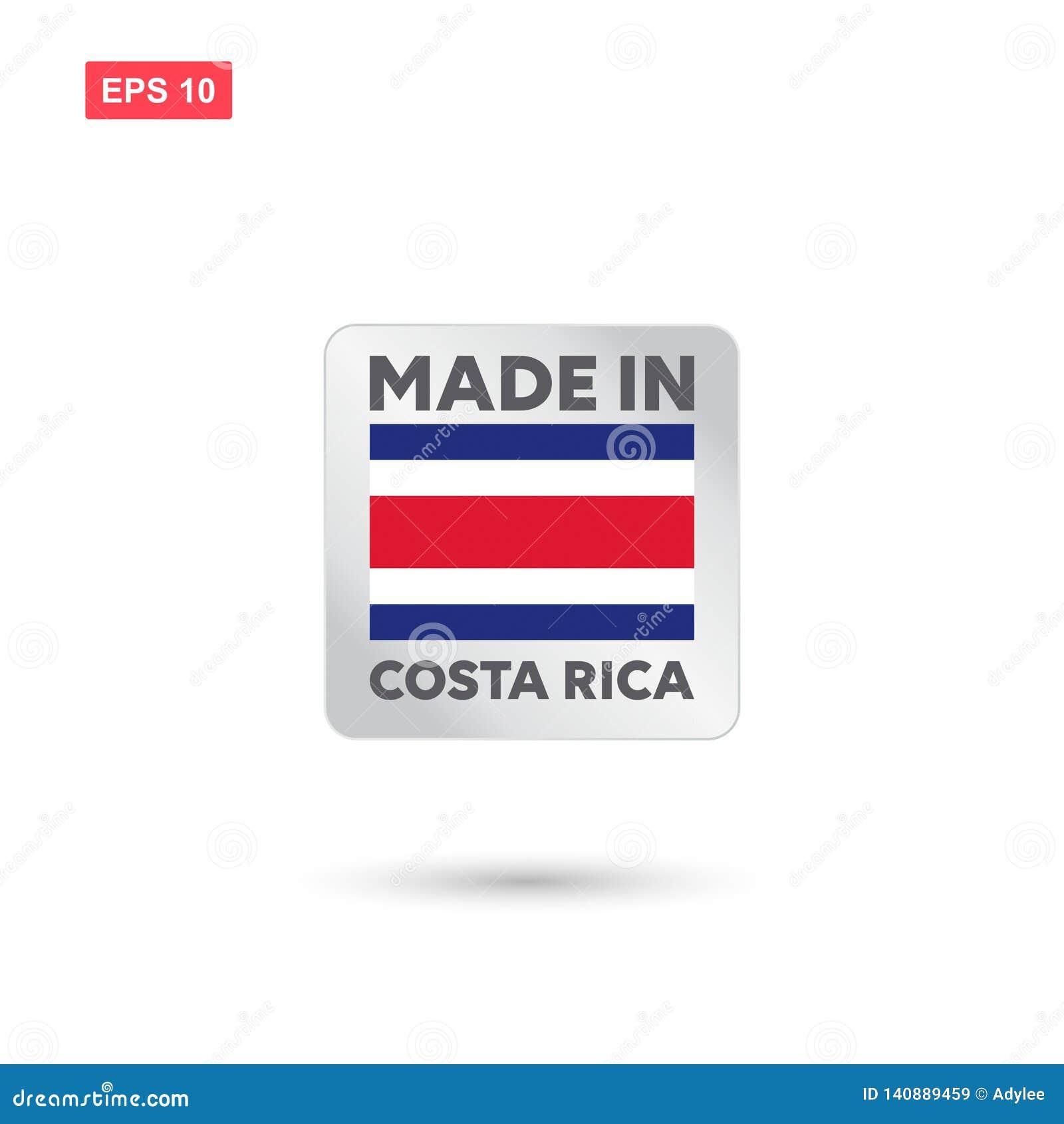 Gjort i den Costa Rica vektorn