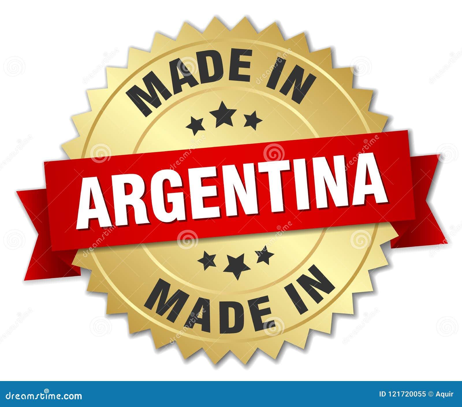 Gjort i det Argentina emblemet