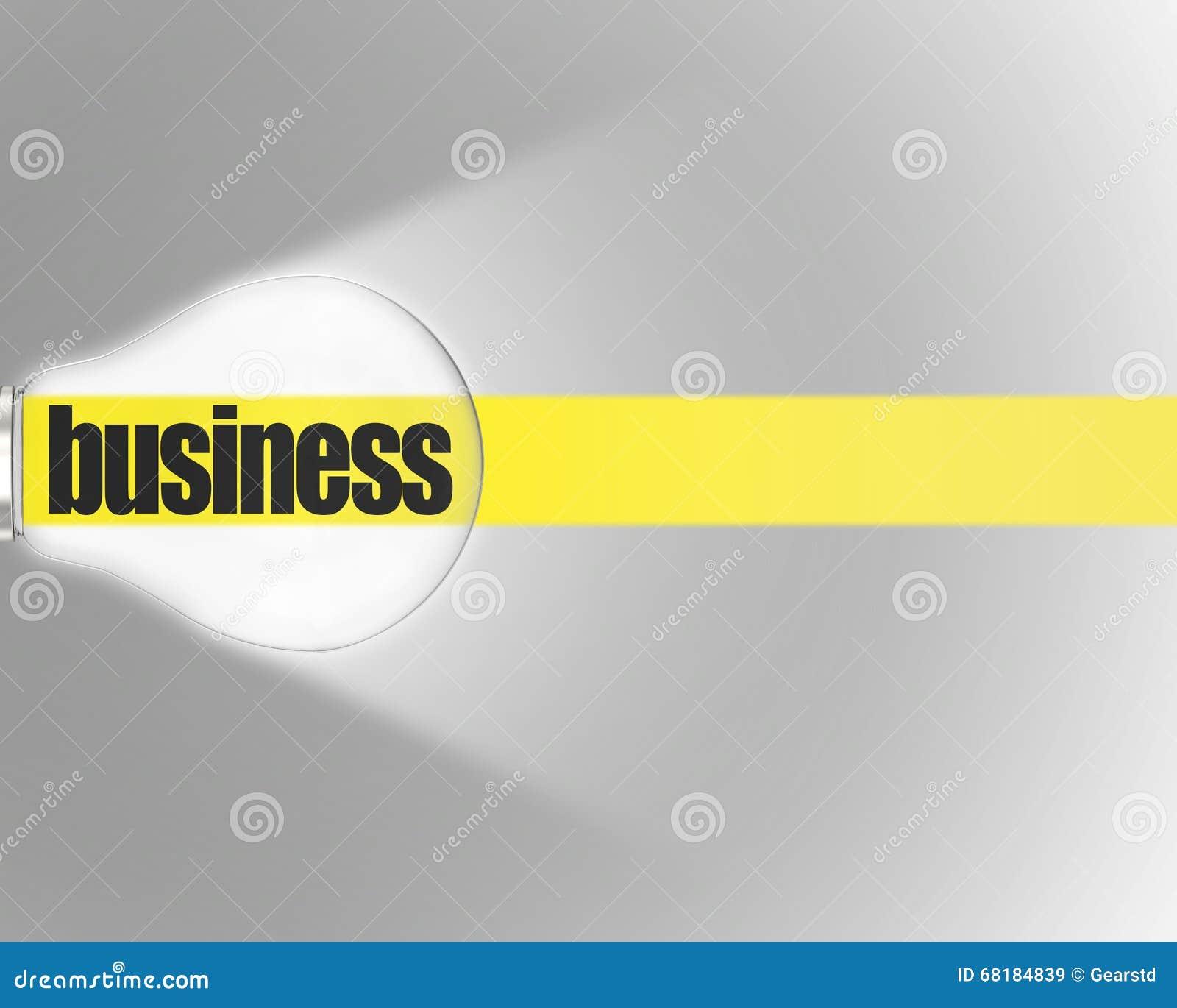 Glänsande kula med det gula bandet och ord AFFÄR på grå bakgrund