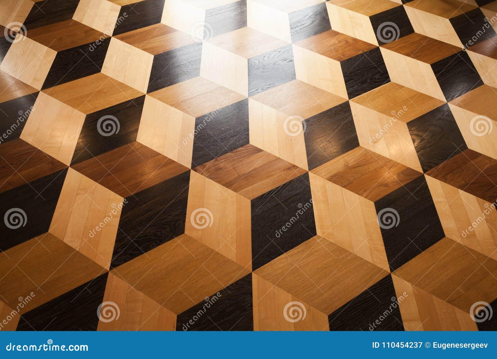 Glänsande träparkettdesign