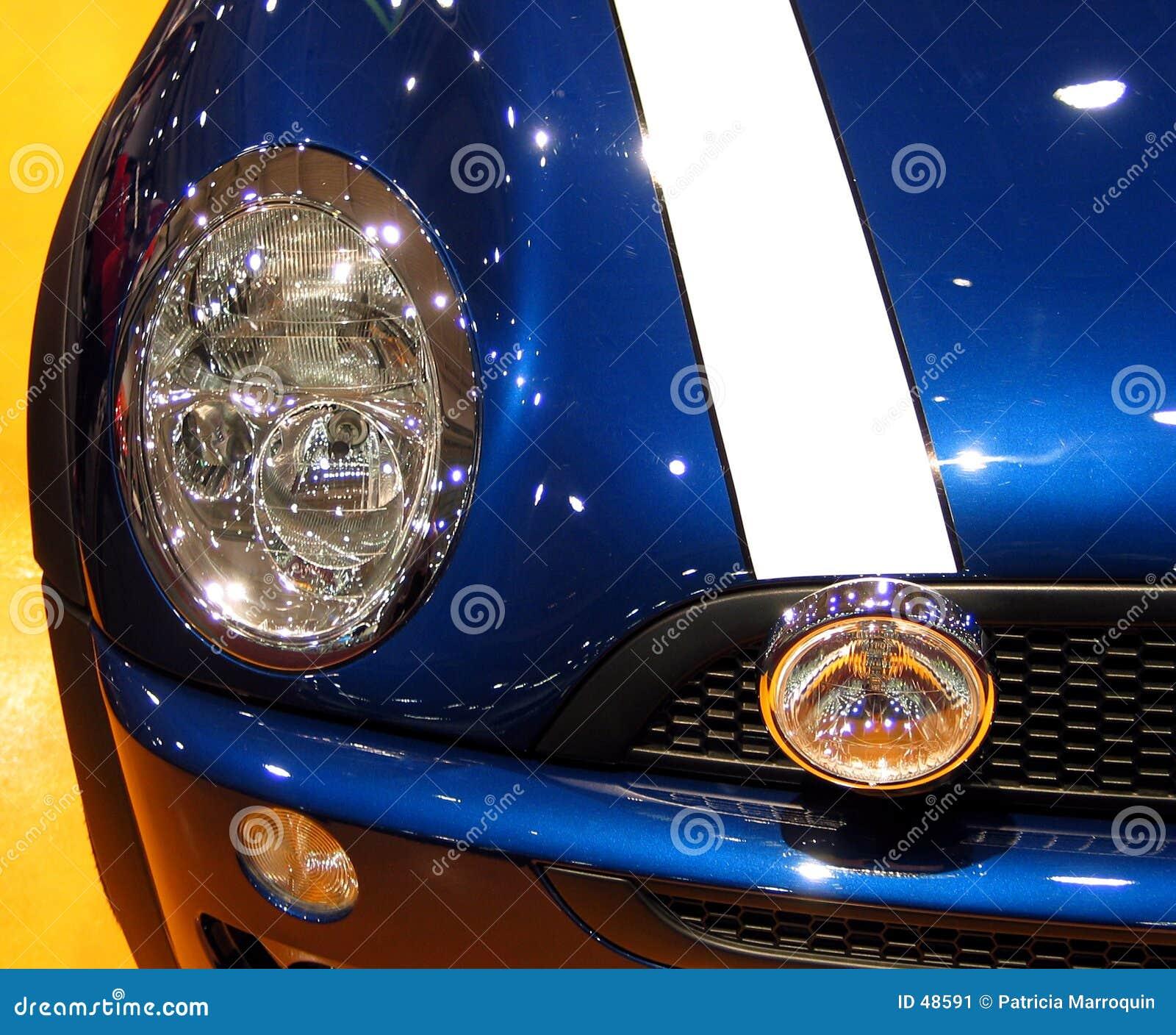 Glänzende blaue Schutzvorrichtung