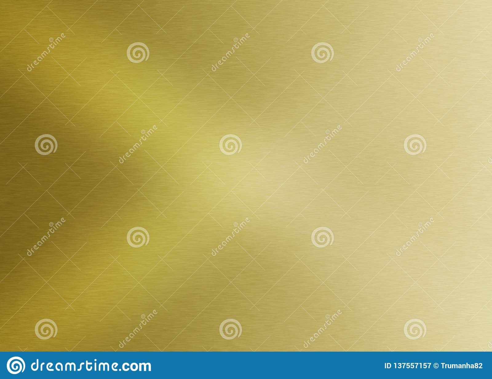 Glänzende gebürstete goldene Metalloberfläche Gradated für abstrakten Hintergrund