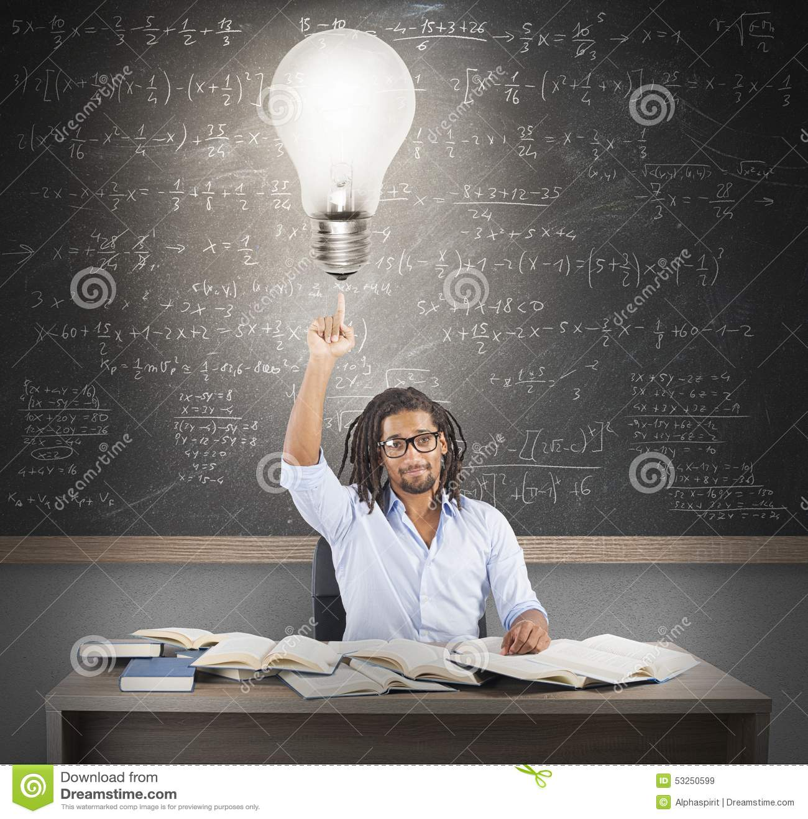 Glänzende Idee des Lehrers