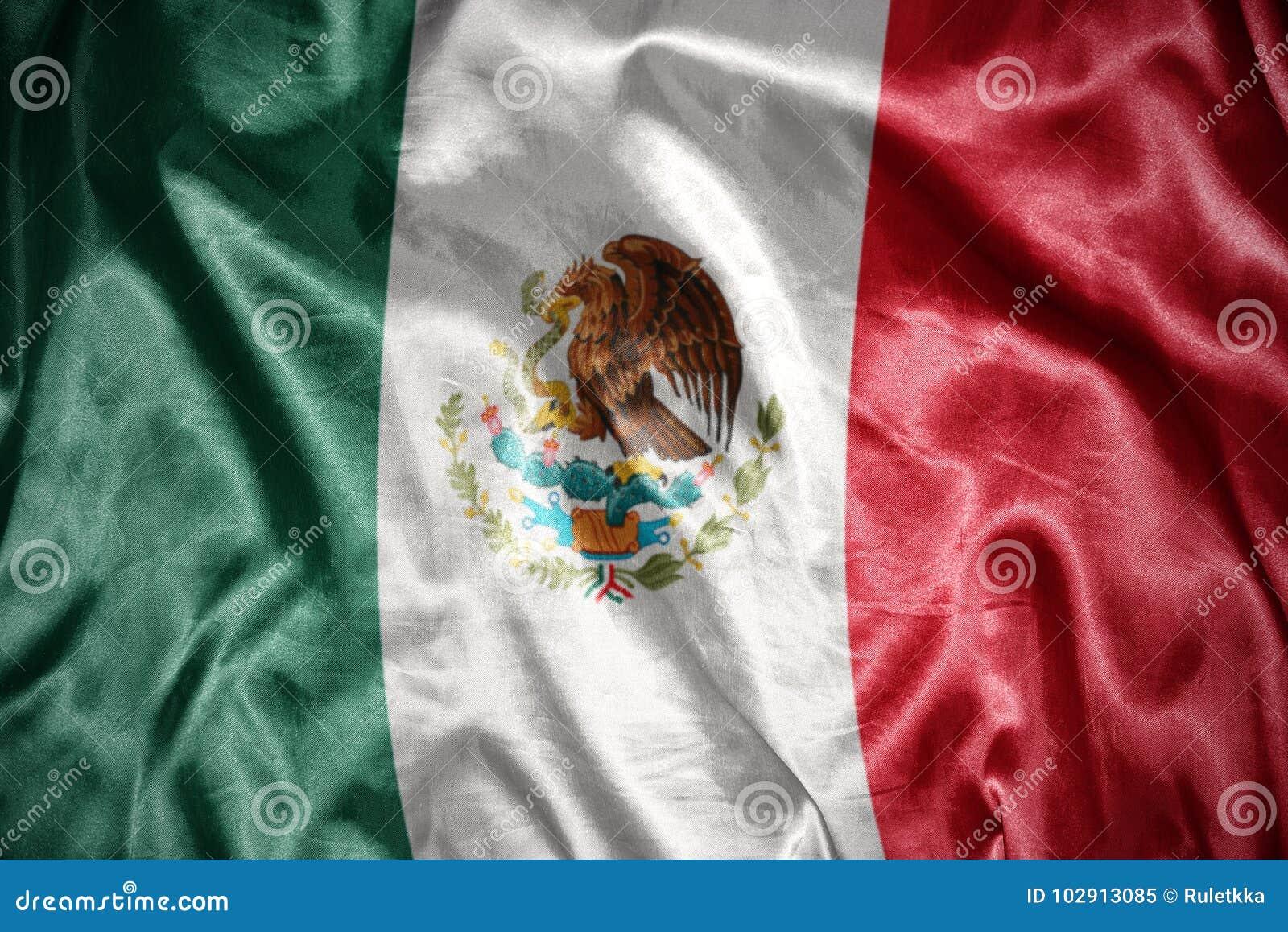 Glänzende mexikanische Flagge