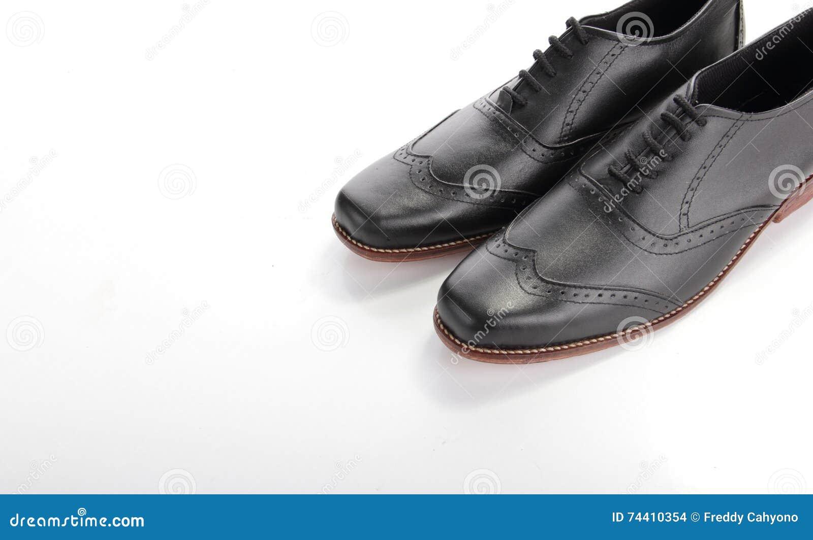 Schwarz weiße Lederschnürschuhe