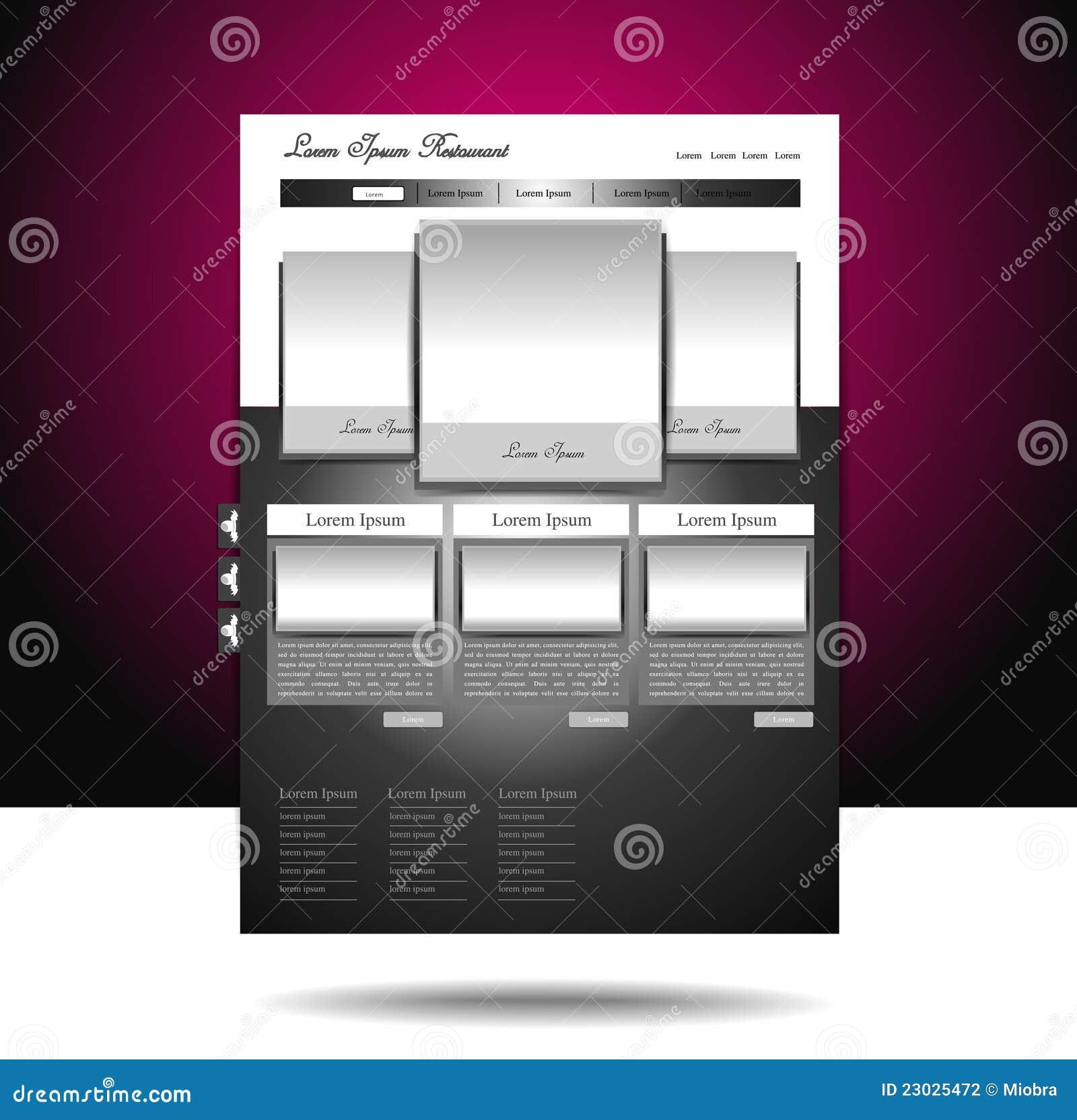Glänzende site- und Blogauslegung