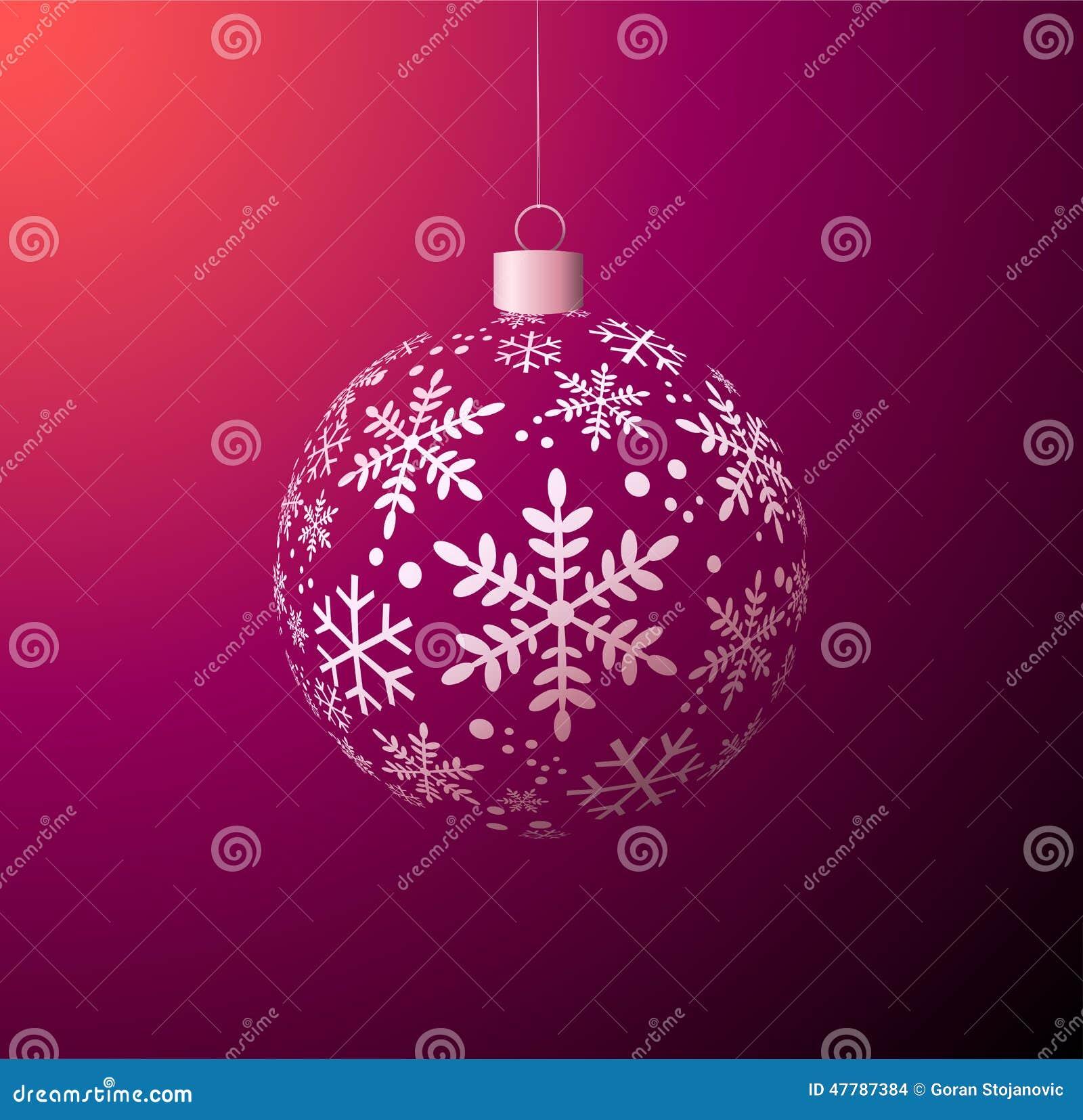 Glänzende Weihnachtskugel