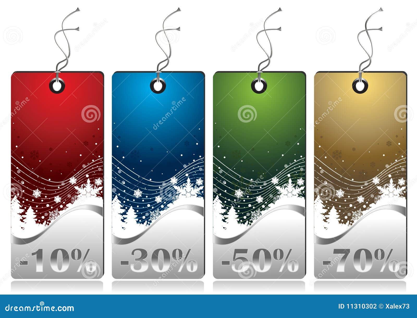 Glänzende Winter-Verkaufs-Marken