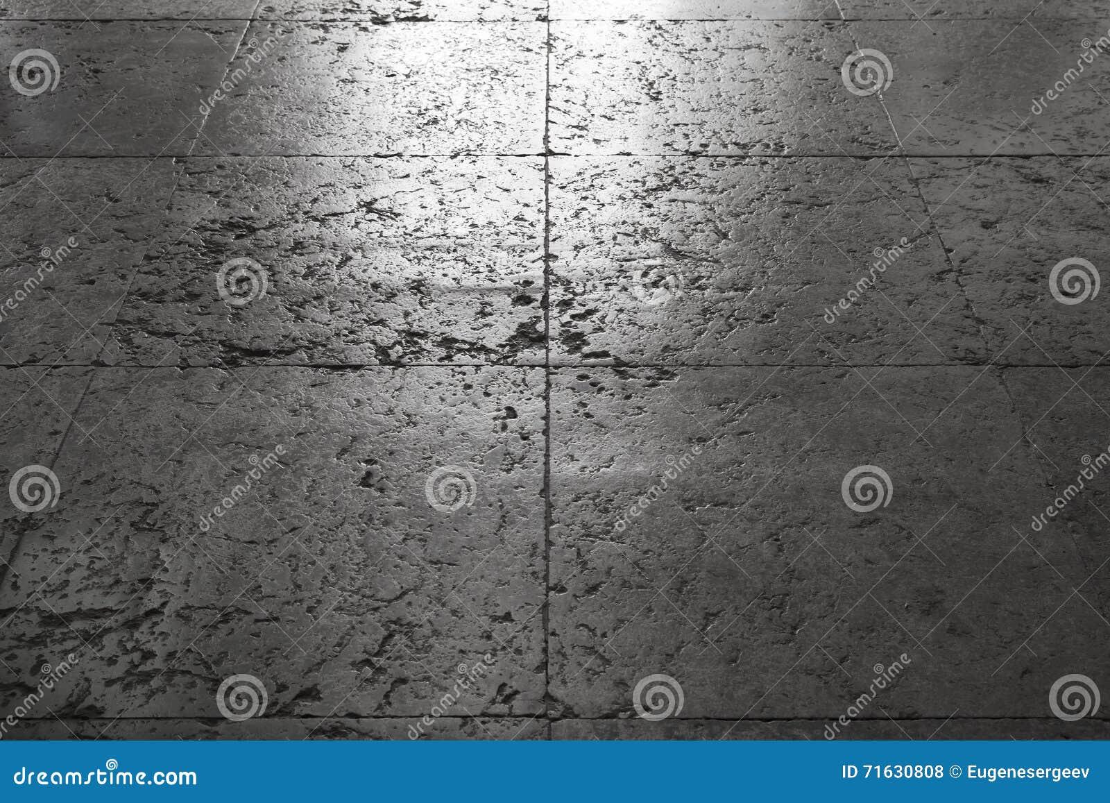 Glanzender Alter Grauer Steinboden Tiling Stockfoto Bild Von