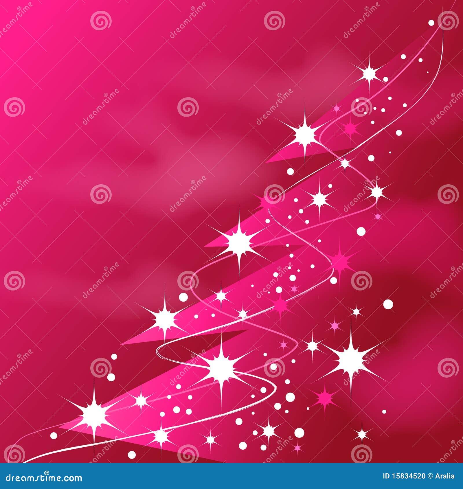 Glänzender rosafarbener Weihnachtsbaum