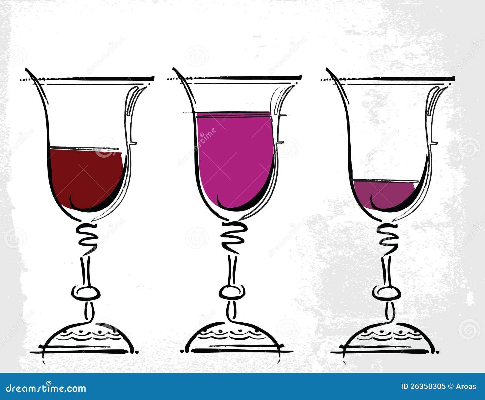Gläser der Weinabbildung