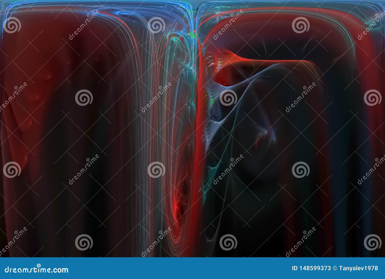 Glödande färgstänk för design för explosion för fantasi för makt för färgstänk för explosion för kosmosnebulosaenergi futuristisk