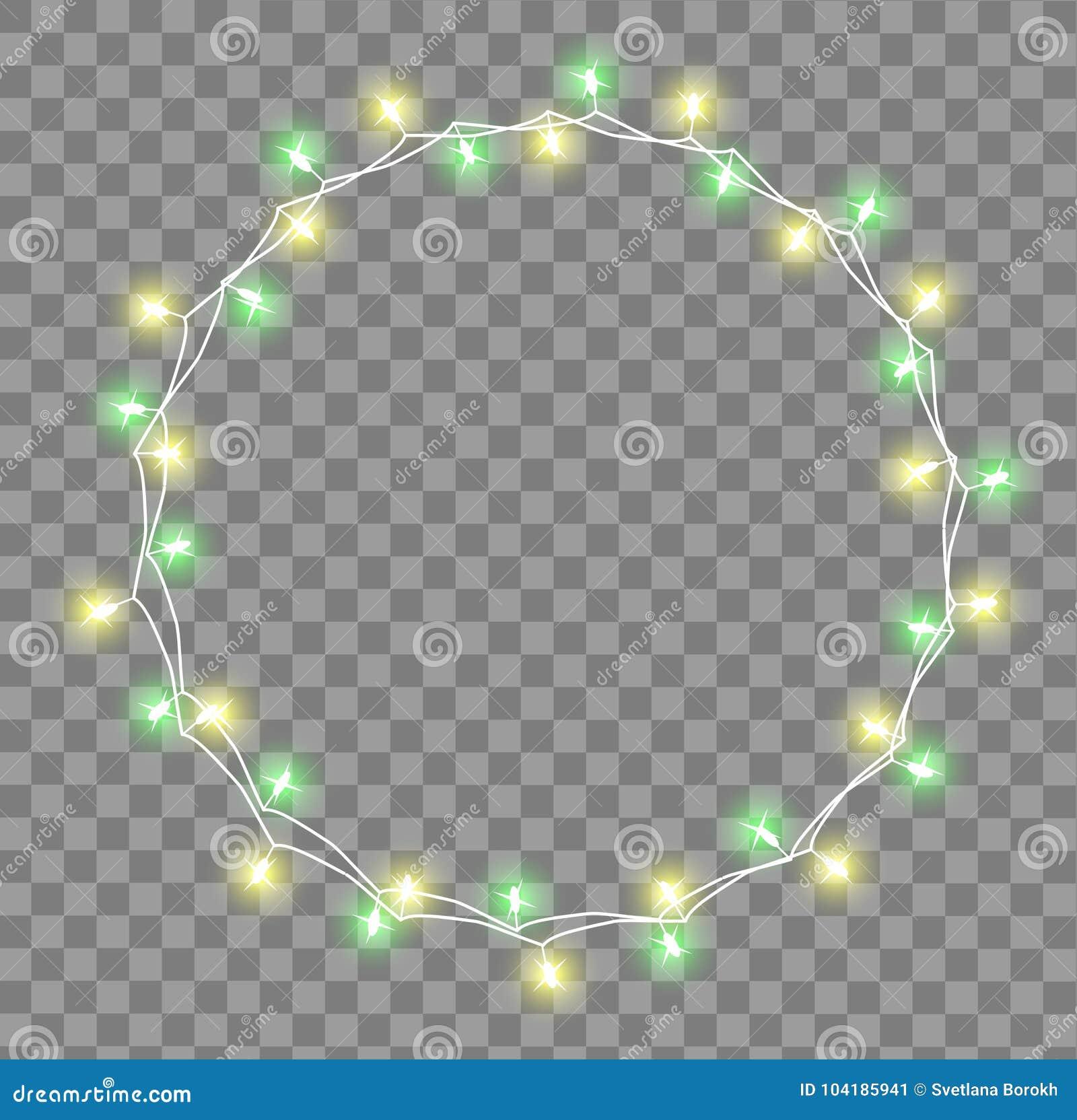 Glödande girland med små lampor Effekter för girlandjulpyntljus Glödande ferie för ljusgirlandXmas