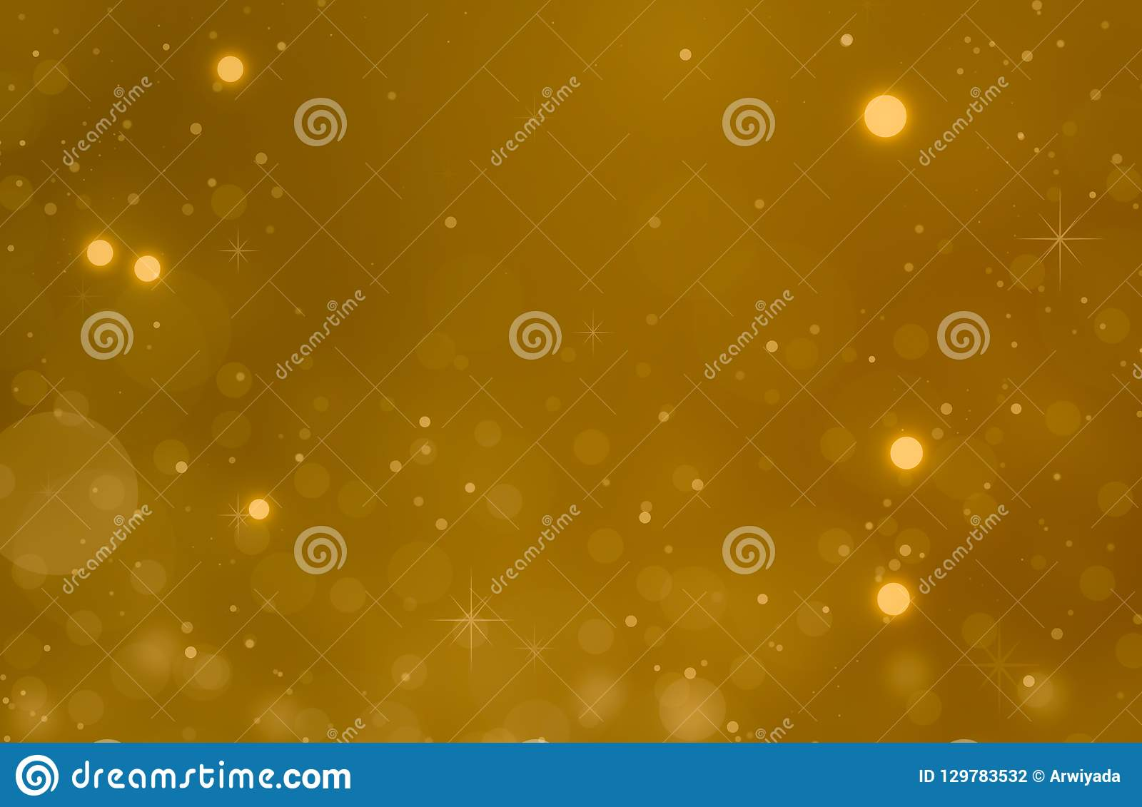 Glödande guld- bakgrund för jul Defocused abstrakt julbakgrund Guld- Holi