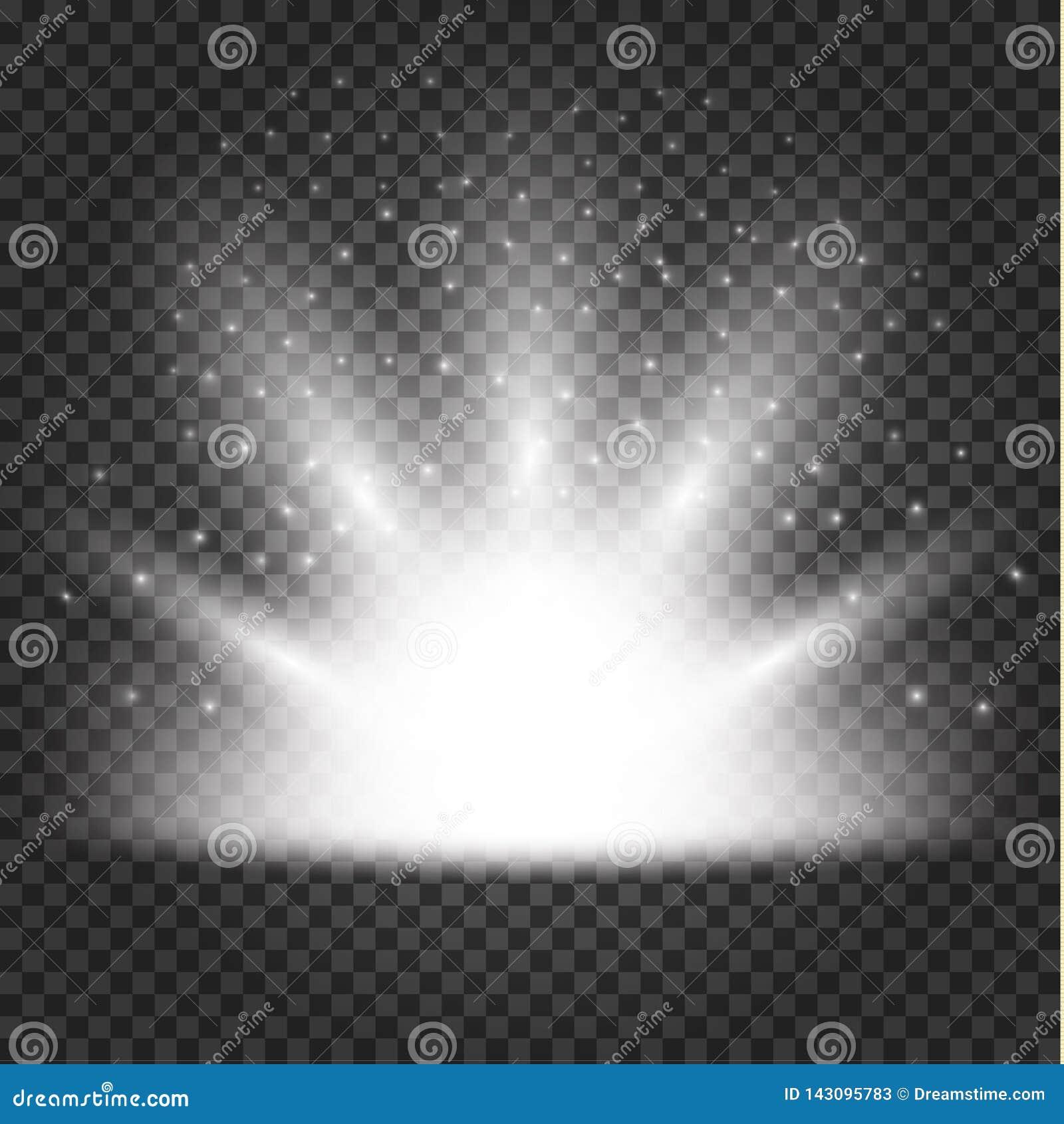Glödande ljuseffekt, signalljus, explosion och stjärnor