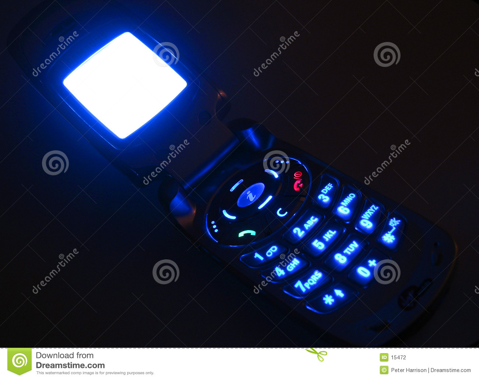 Glödande mobil telefon