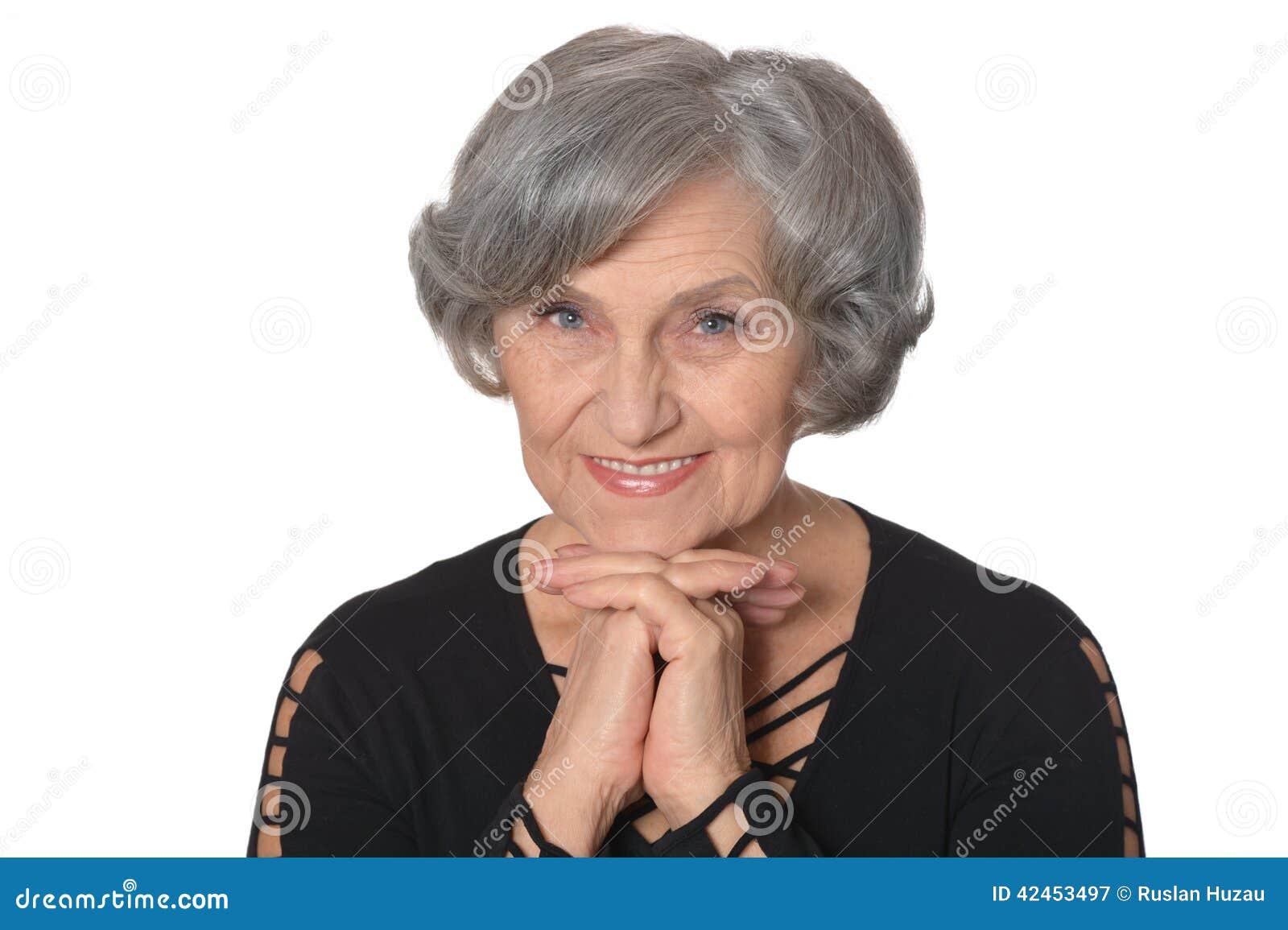 Glückliche ältere Dame