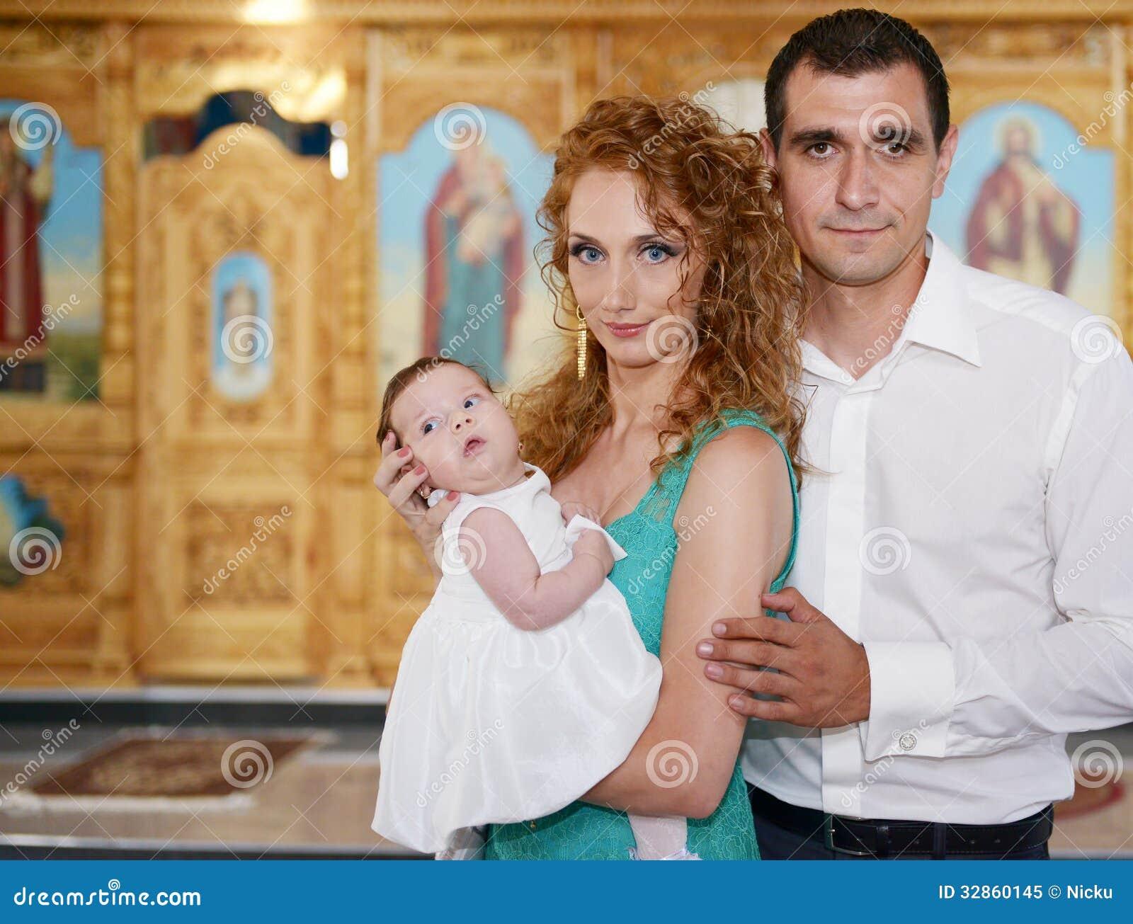 Glückliche christliche Familie