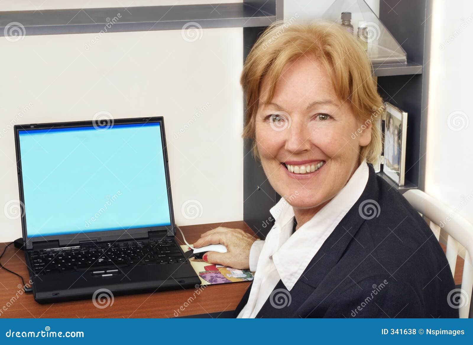 Glückliche Geschäftsfrau I