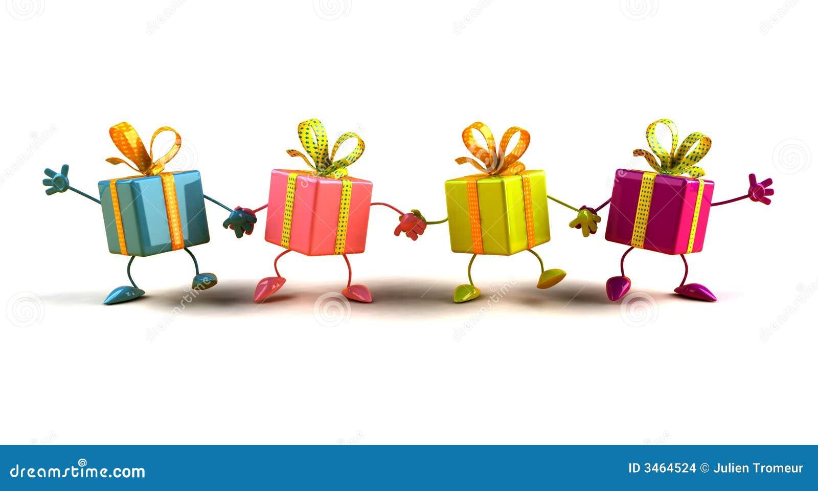 Glückliche Geschenke