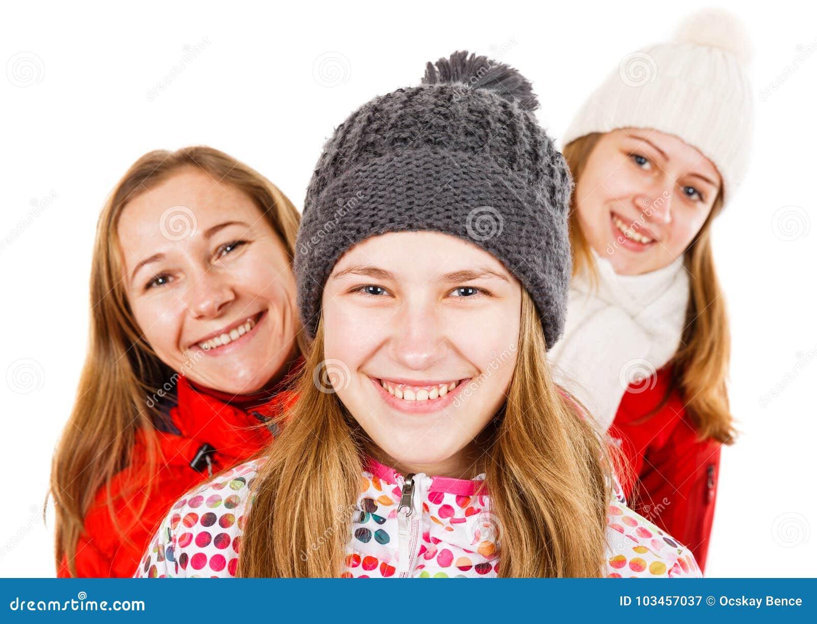 Glückliche junge Schwestern