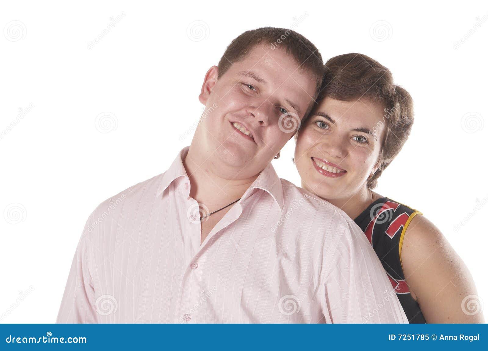 Glückliche lächelnde Jugend und Mädchen.