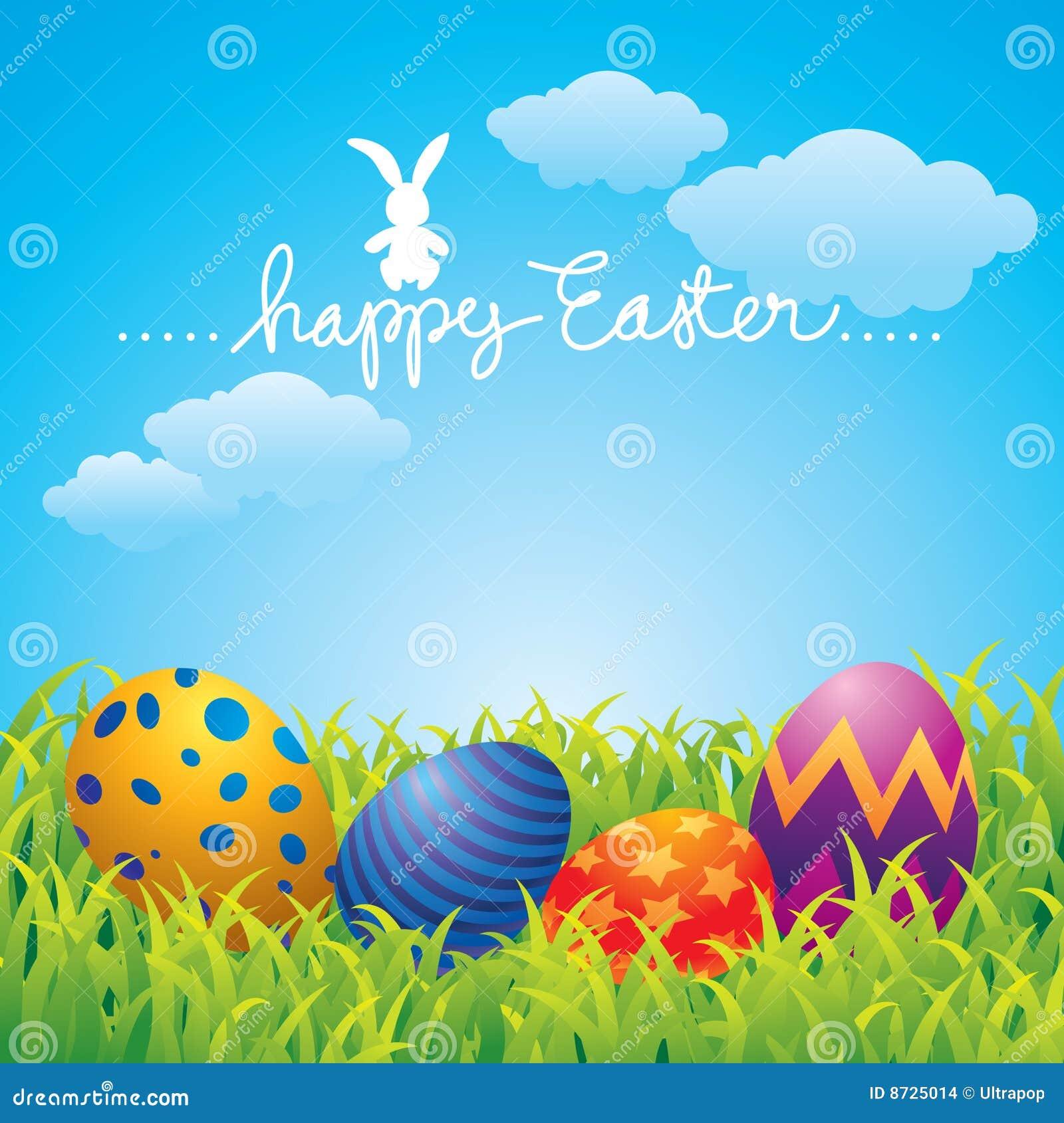 Glückliche Ostern-Grußkarte