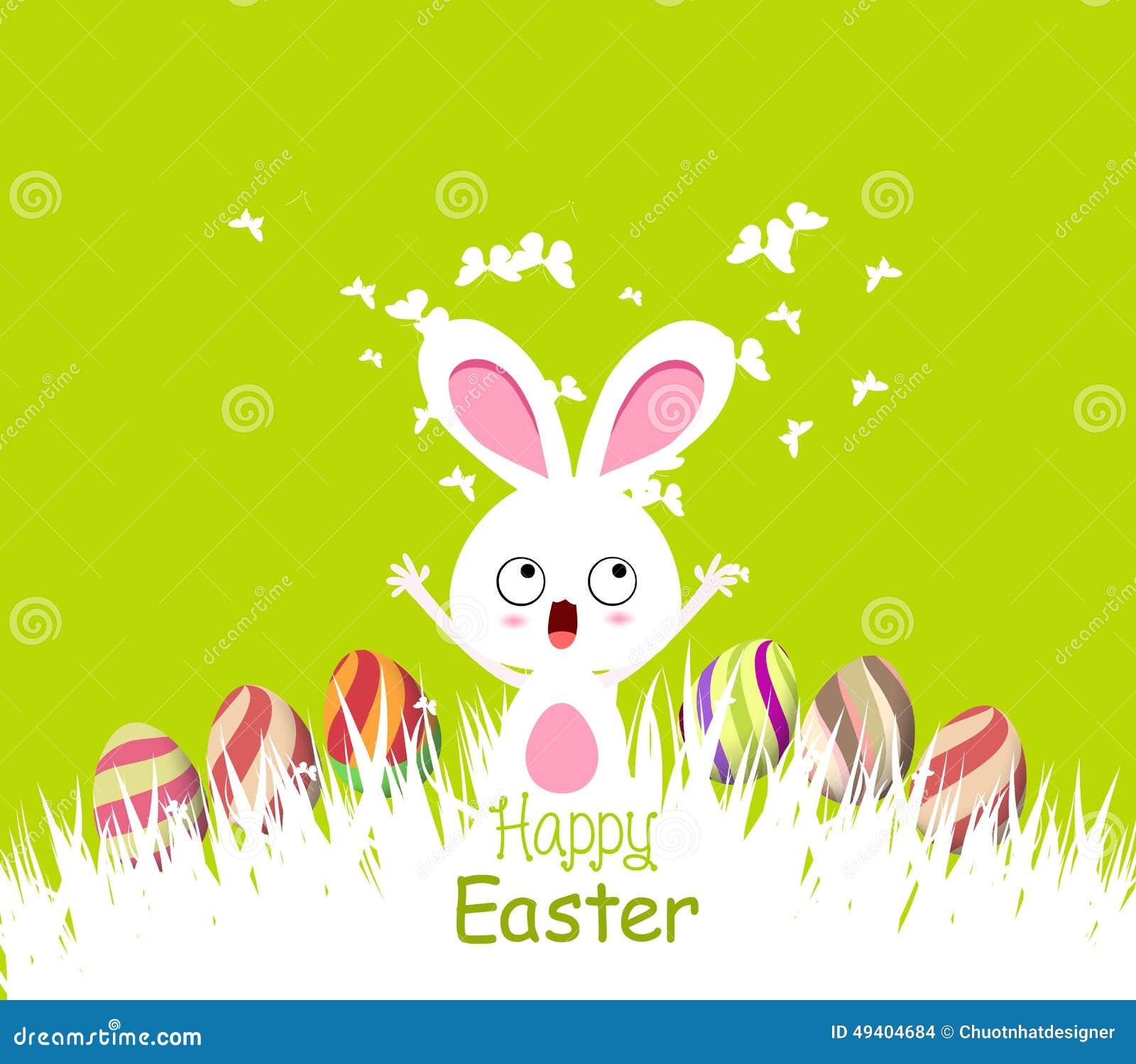 Download Glückliche Ostern-Karten Mit Eiern Und Häschen Vektor Abbildung - Illustration von exemplar, karte: 49404684