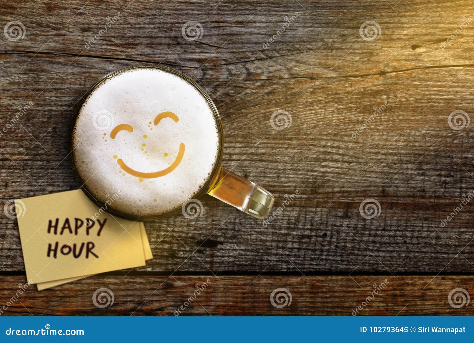 Glückliche Stunden-Konzept, damit Bar-, Café- oder Nachtclub weg fördert