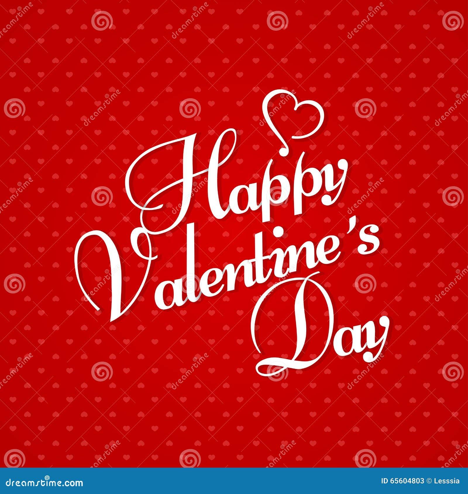 Schön Glückliche Valentinstag Gruß Karte Auf Rotem Hintergrund