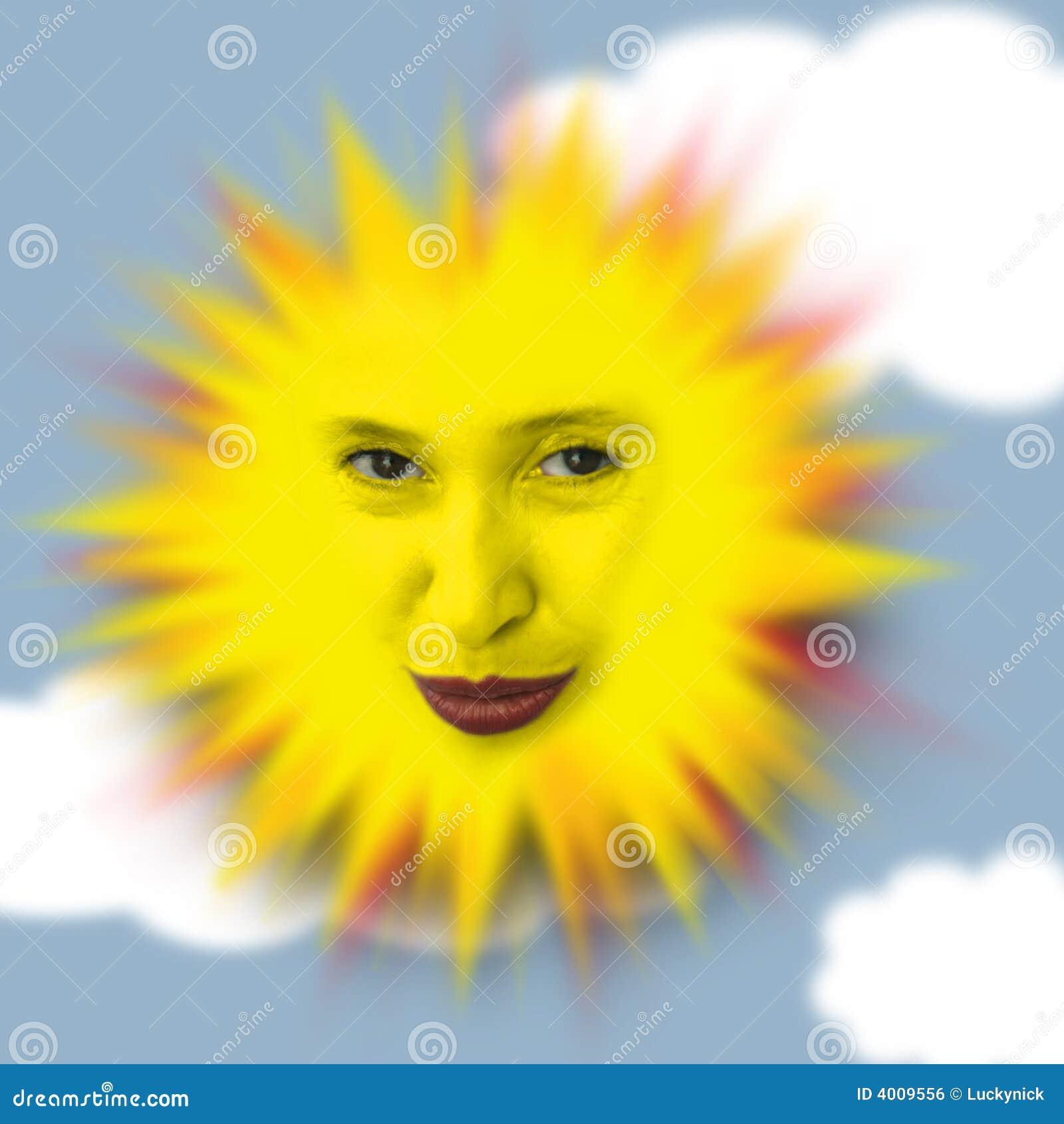 Glückliche warme Sonne