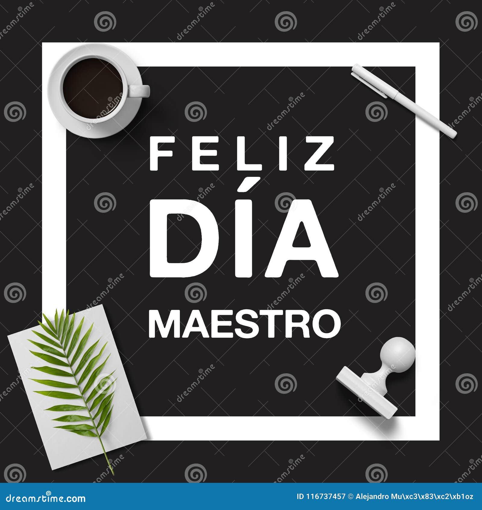 Glücklicher Lehrer ` s Tag auf spanisch