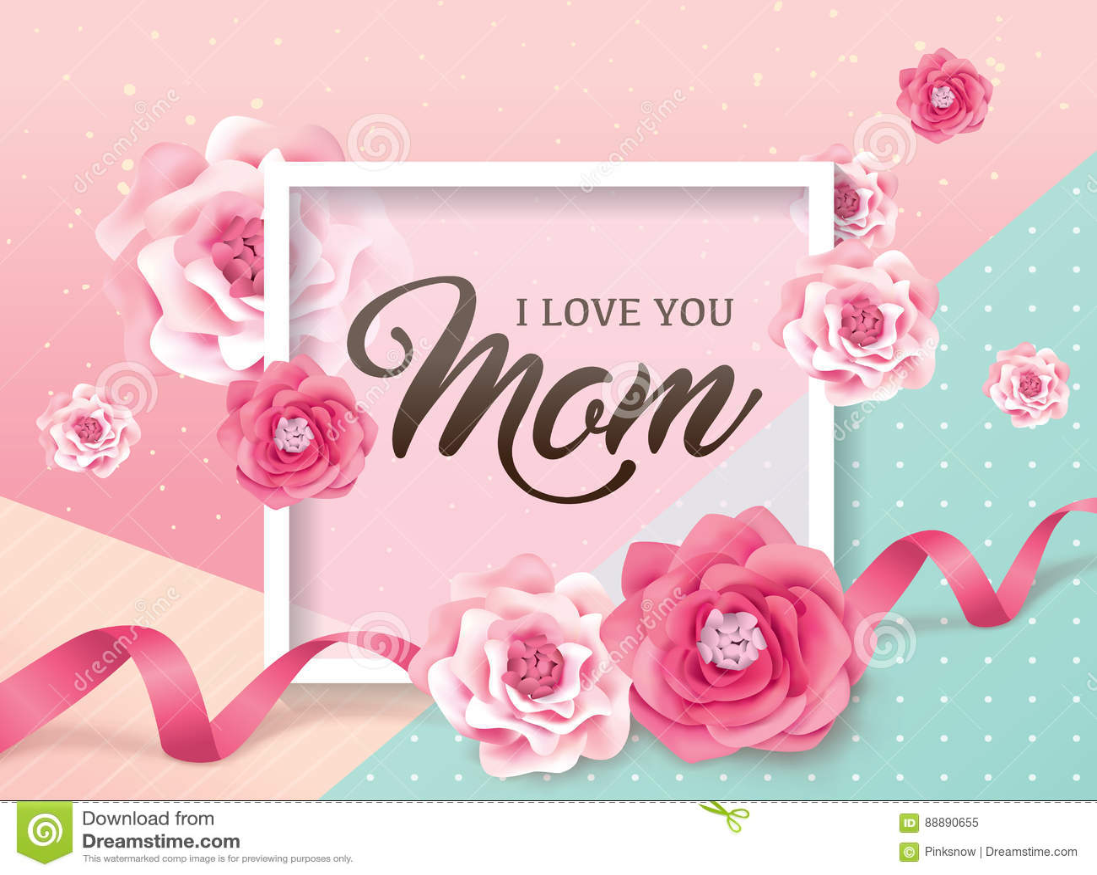 Glücklicher Mutter`s Tag