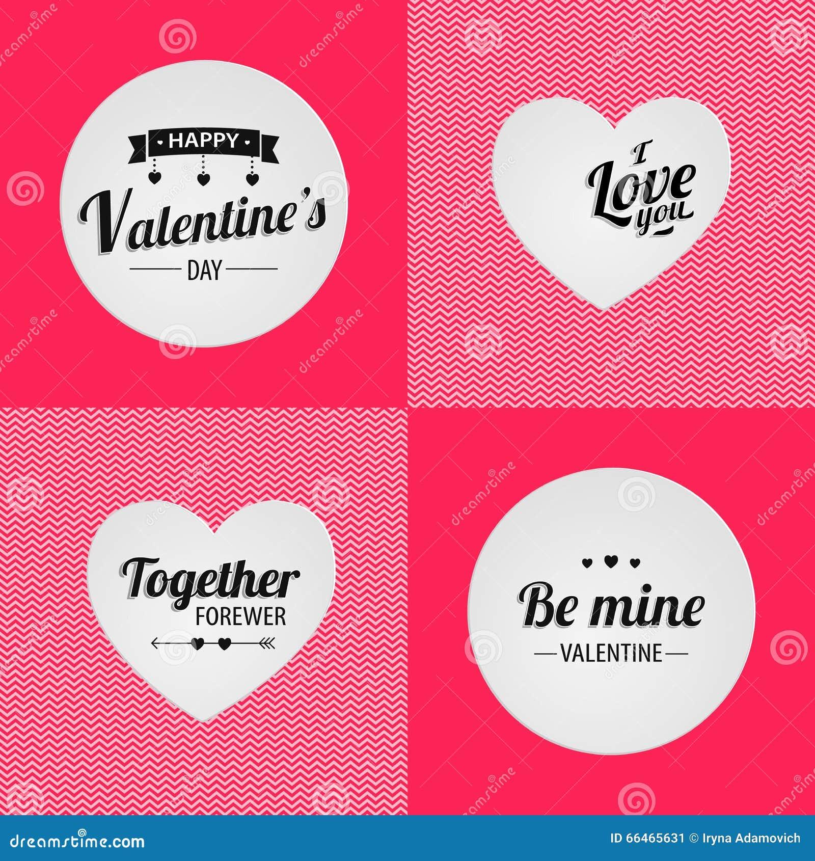Glücklicher Valentinstag Zusammen Forewer Ilove Sie Seien Sie ...