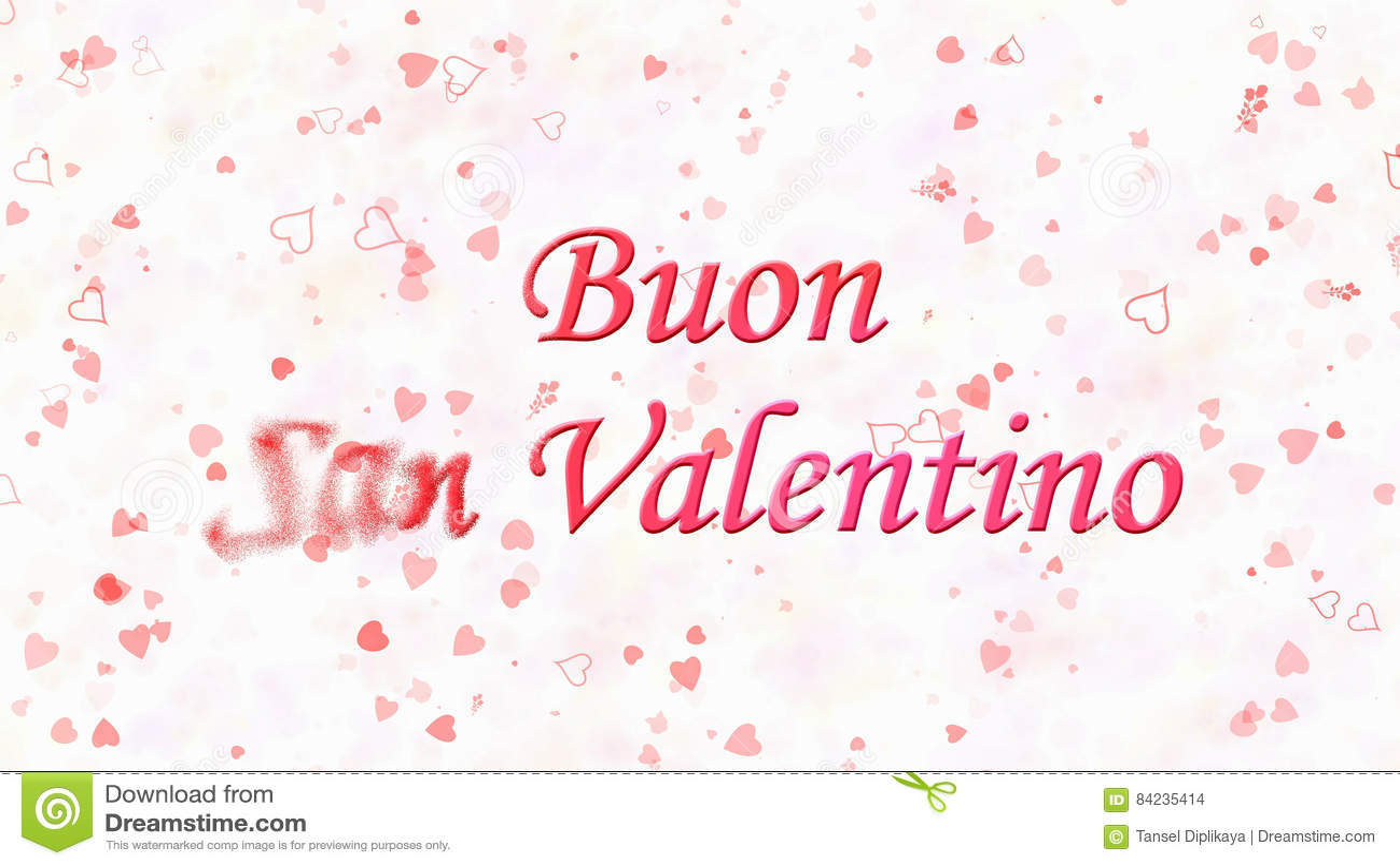 Glücklicher Valentinstagtext Auf Italienisch Buon San Valentino ...