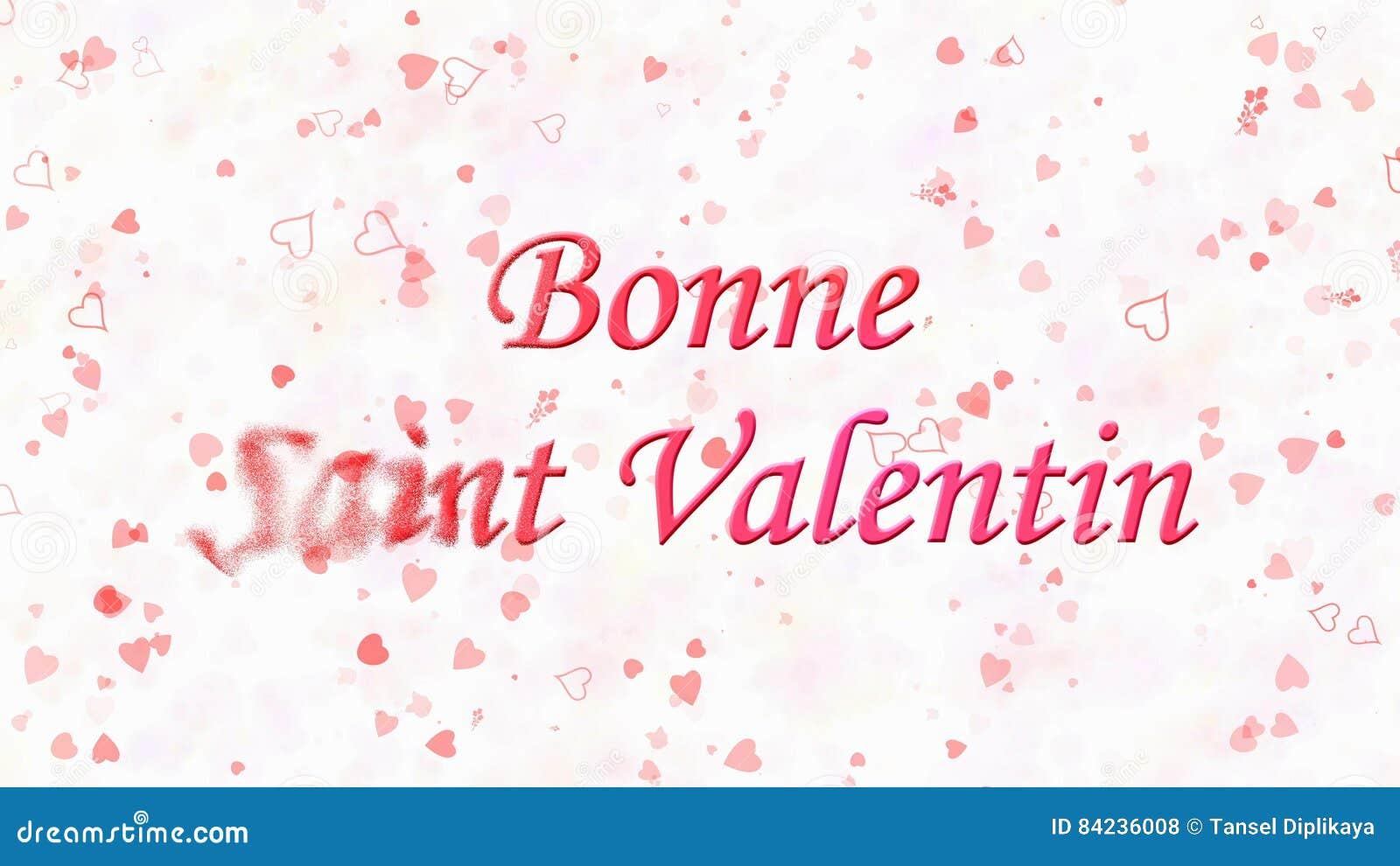 Glücklicher Valentinstagtext In Franzosen Bonne-Heiligem Valentin ...